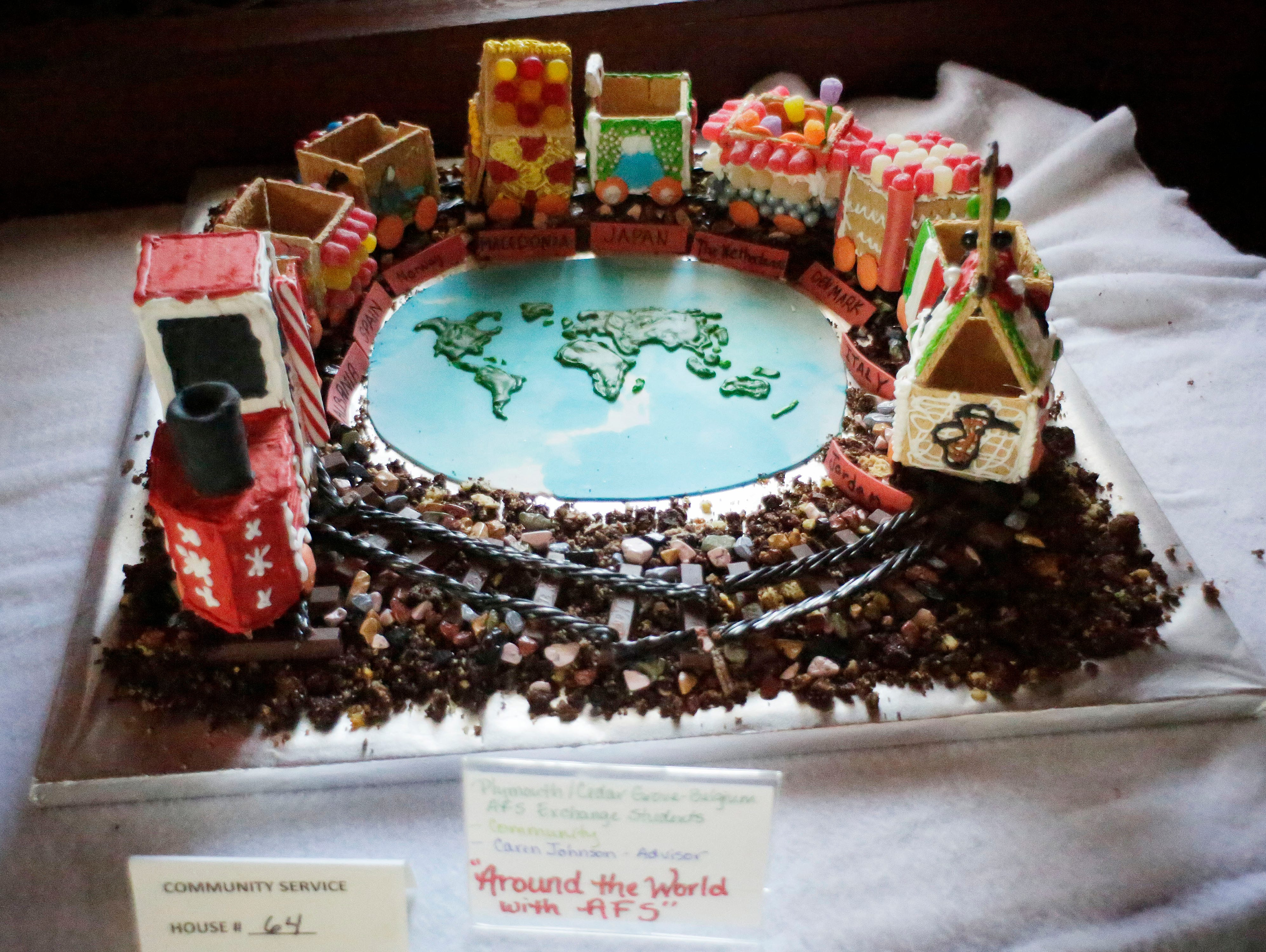 Around the World with AFS at the annual Waelderhaus Gingerbread Festival, Saturday, December 8, 2018, in Kohler, Wis.