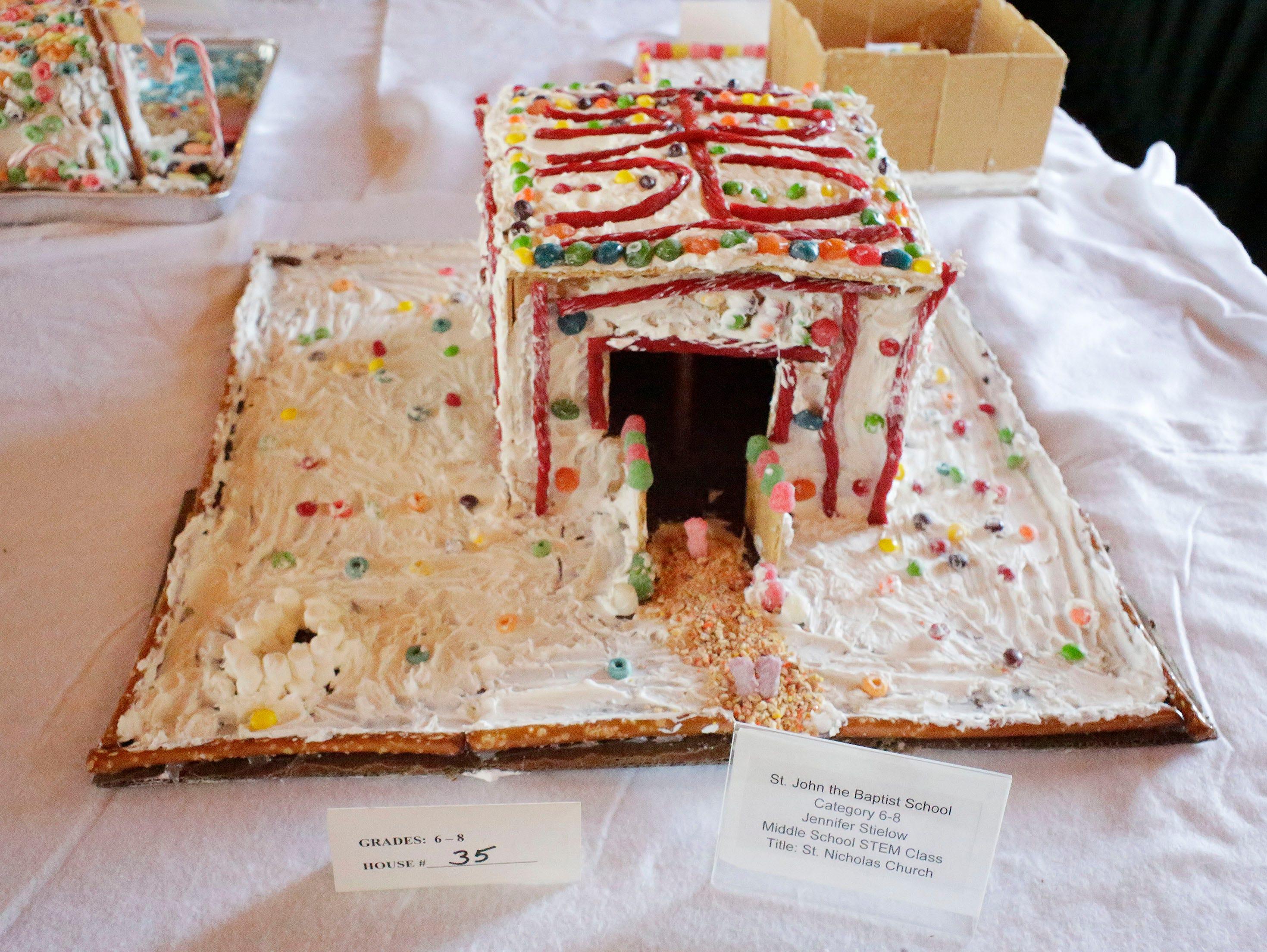 St. Nicholas Church at the annual Waelderhaus Gingerbread Festival, Saturday, December 8, 2018, in Kohler, Wis.
