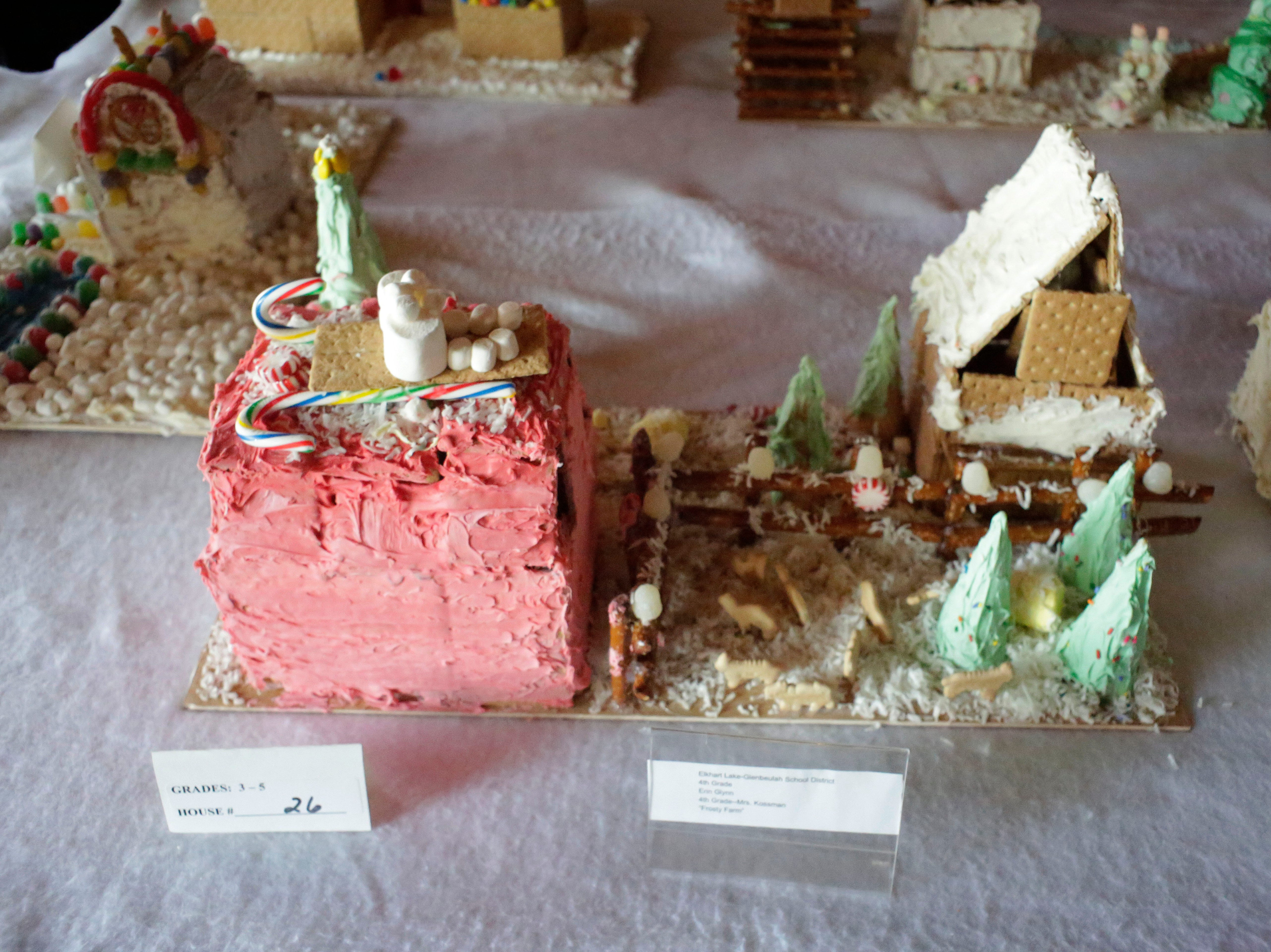 A Frosty Farm at the annual Waelderhaus Gingerbread Festival, Saturday, December 8, 2018, in Kohler, Wis.