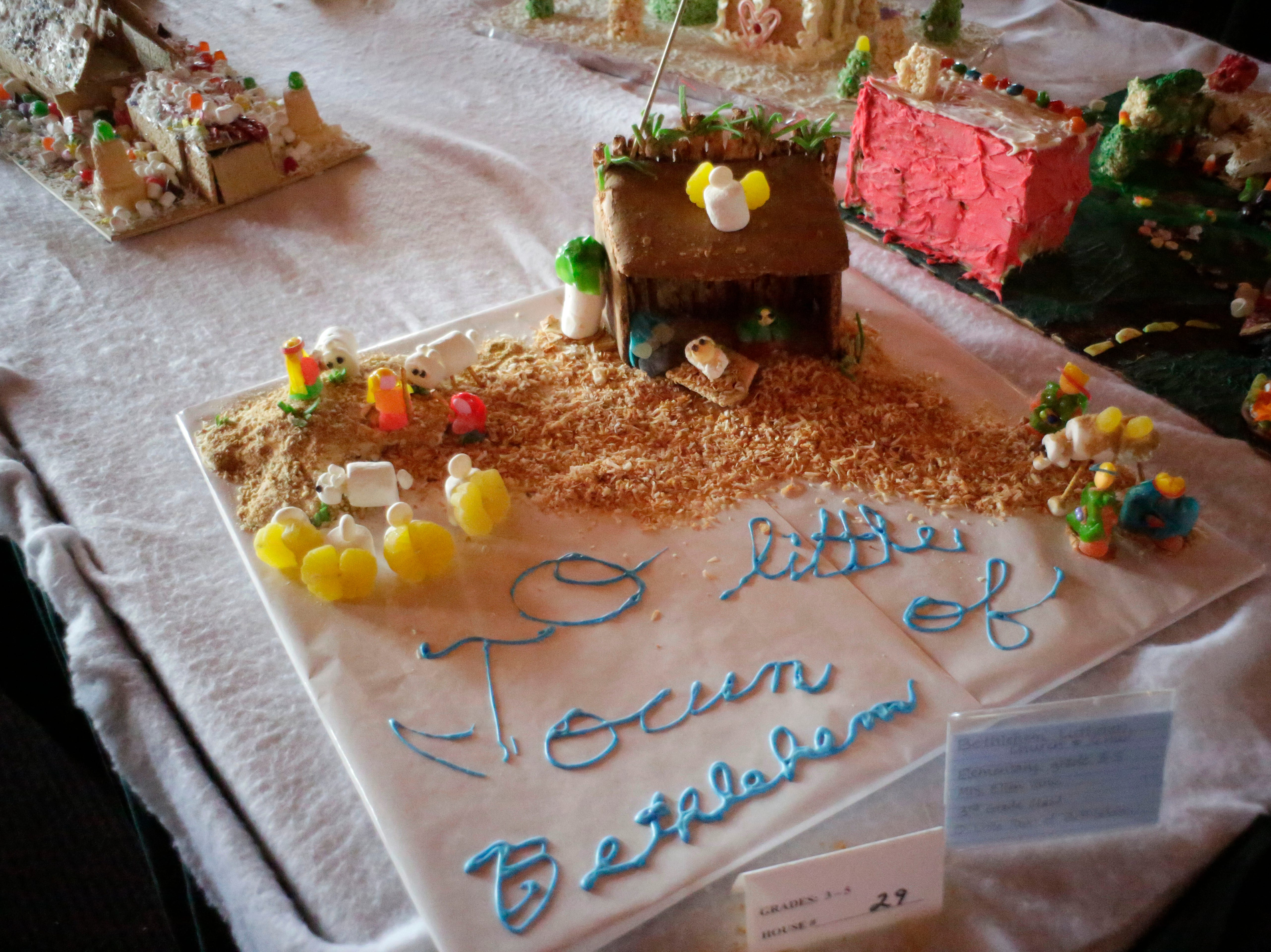 O Little Town of Bethleham at the annual Waelderhaus Gingerbread Festival, Saturday, December 8, 2018, in Kohler, Wis.