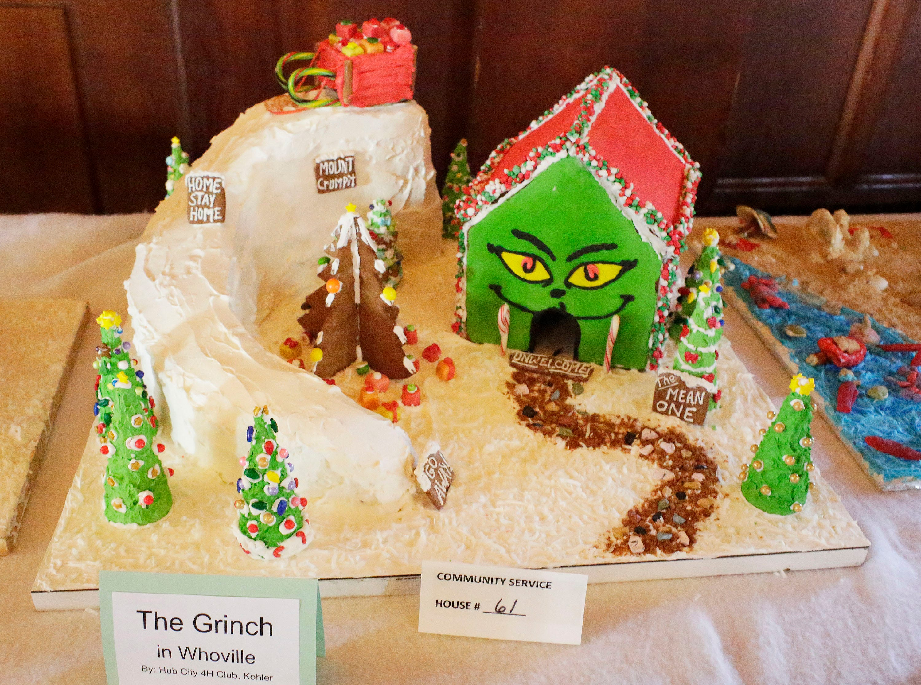 The Grinch in Whoville at the annual Waelderhaus Gingerbread Festival, Saturday, December 8, 2018, in Kohler, Wis.