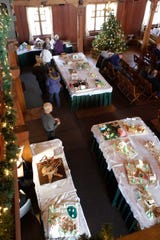 An overall at the annual Waelderhaus Gingerbread Festival, Saturday, December 8, 2018, in Kohler, Wis.