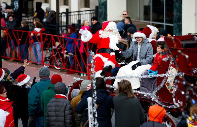 Thousands attended the 2018 Christmas Parade in Downtown Springfield on Saturday, Dec. 8, 2018.