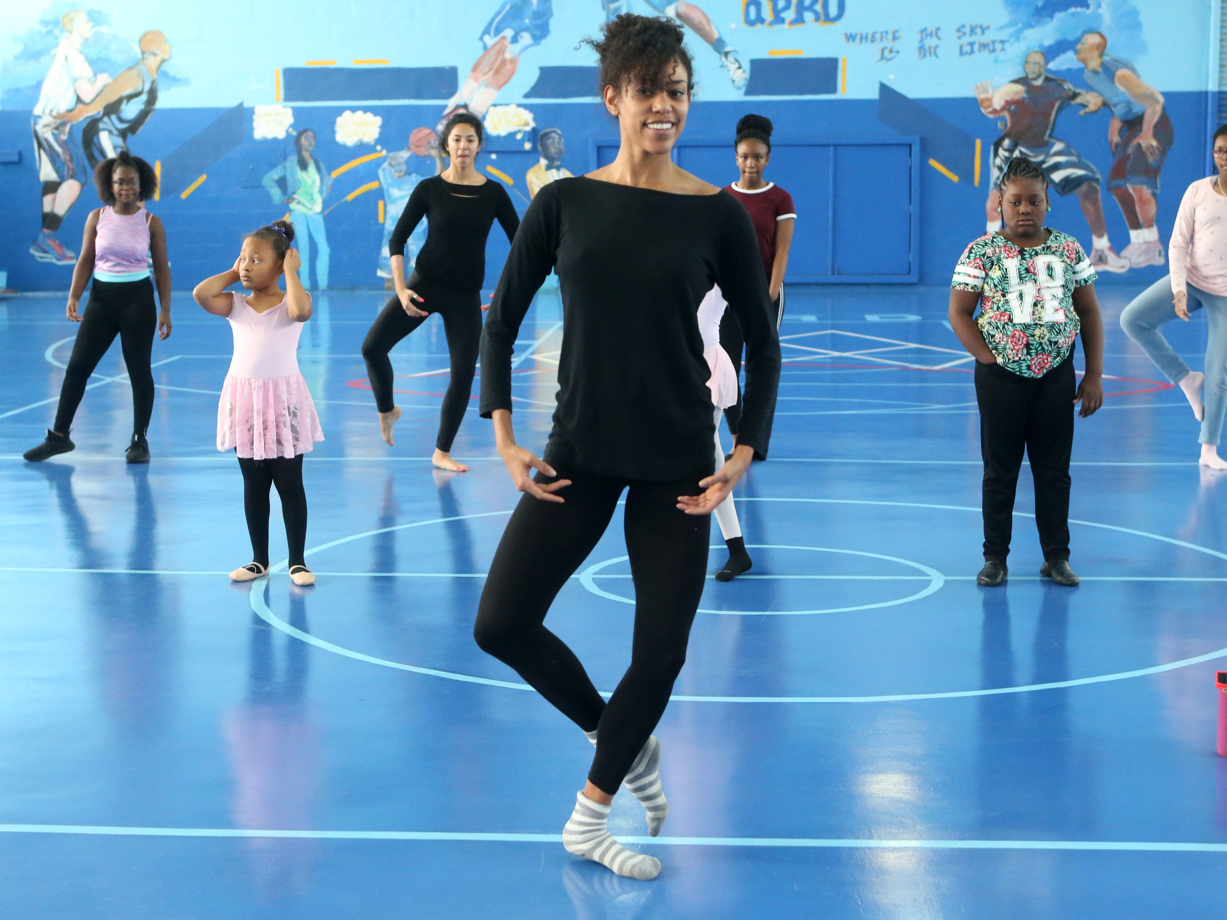 Dance class in Quincy, Fla. taught by Lindsey Croop, professional dancer