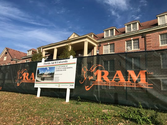 A banner announcing details of future amphitheater location at Florida A&M University has sparked interest.