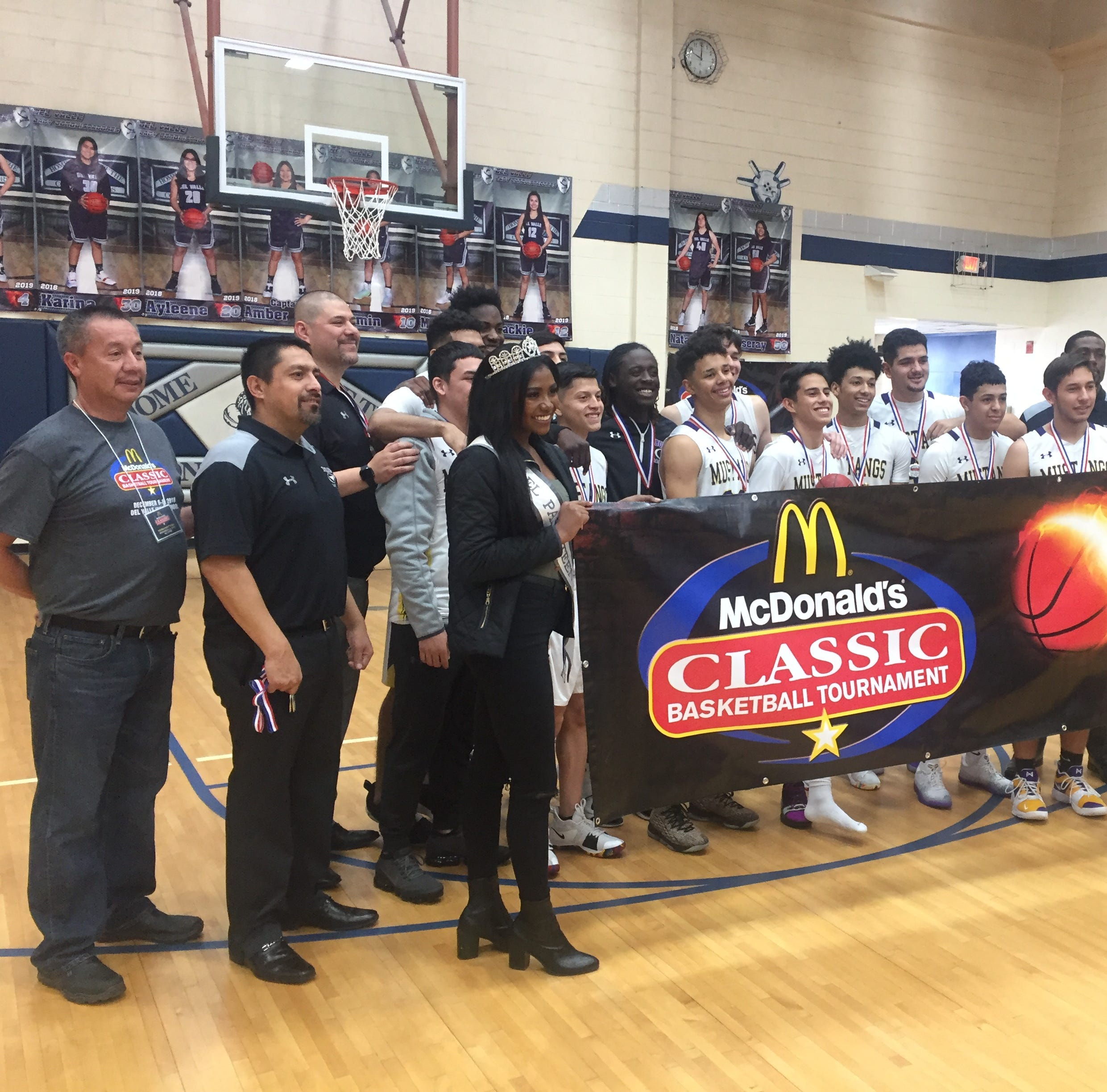 The Burges boys basketball team won the McDonald's Classic Basketball Tournament on Saturday at Del Valle High School.