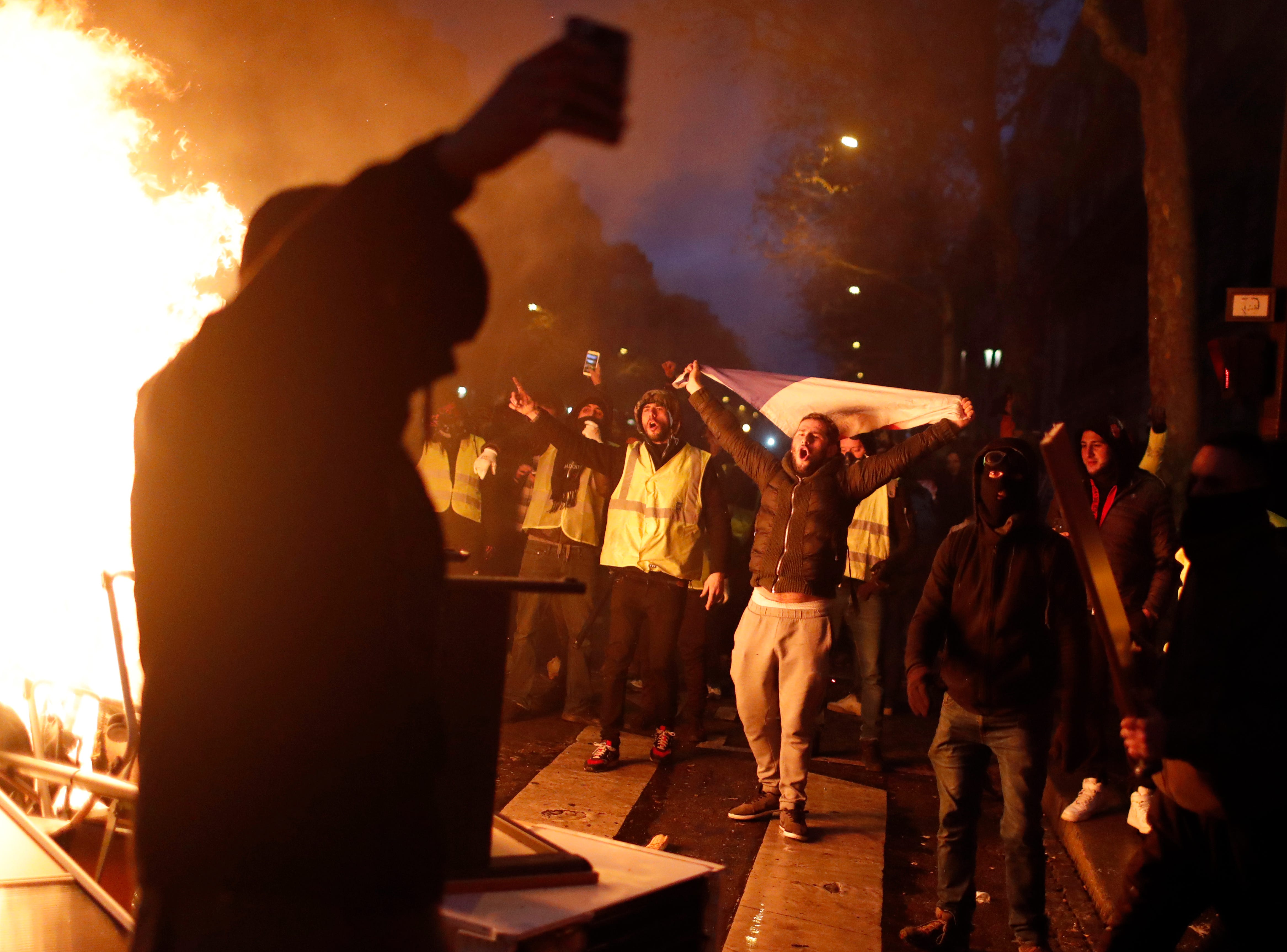 Protests against fuel taxes, rising cost of living hit French cities