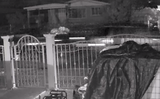 Security camera video shows an SUV pulling the black, 1993 Chevrolet Silverado from a driveway on the 9300 block of Roanoke Drive on Sept. 23, 2018.