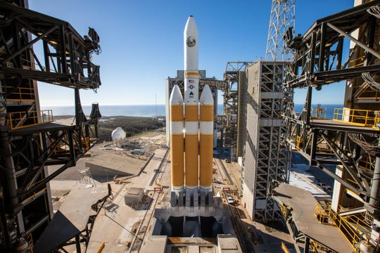 A Delta IV Heavy Rocket is shown in this file photo.