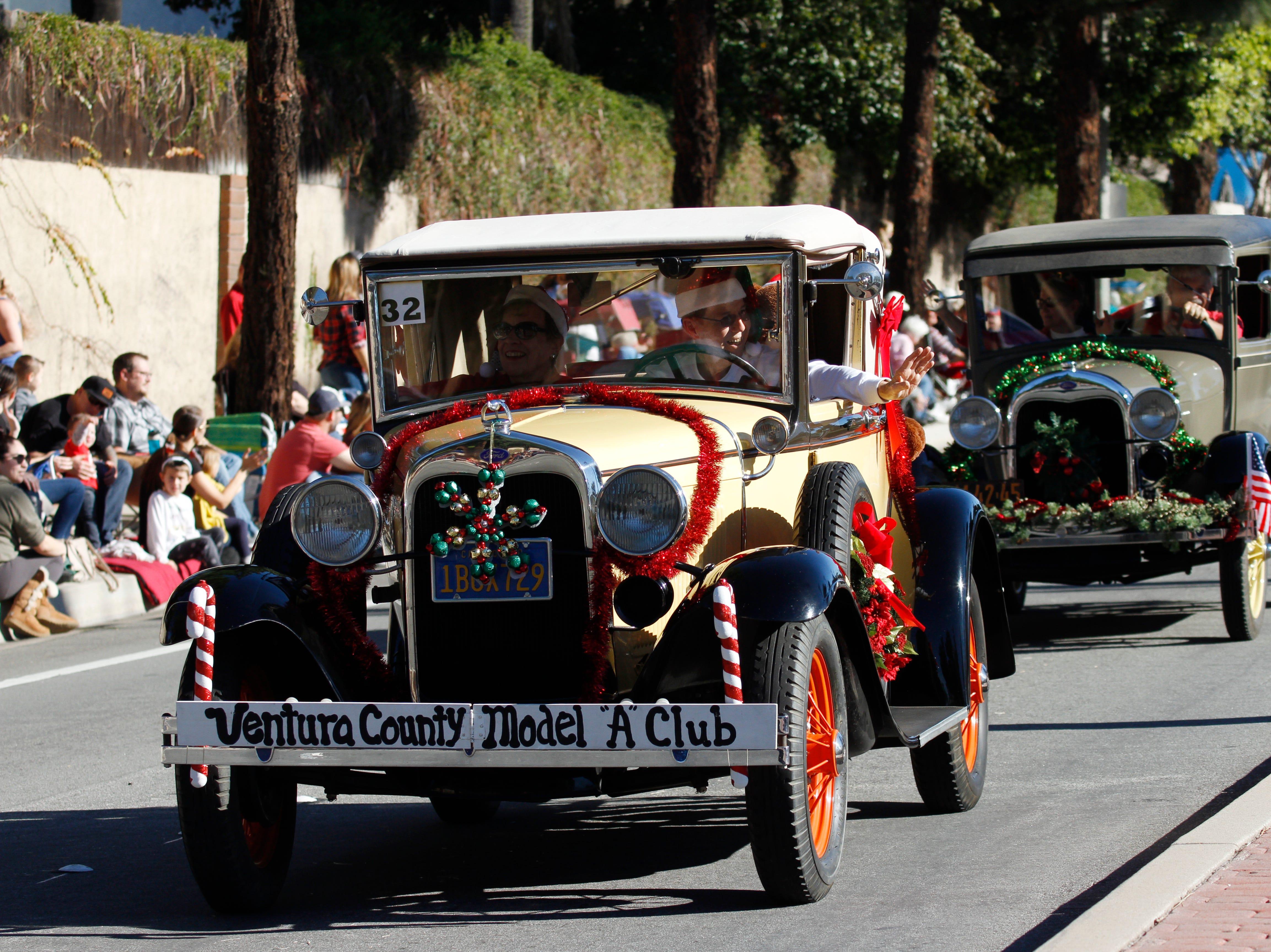 The Ventura County Model A Club participates in Saturday's Camarillo Christmas parade.