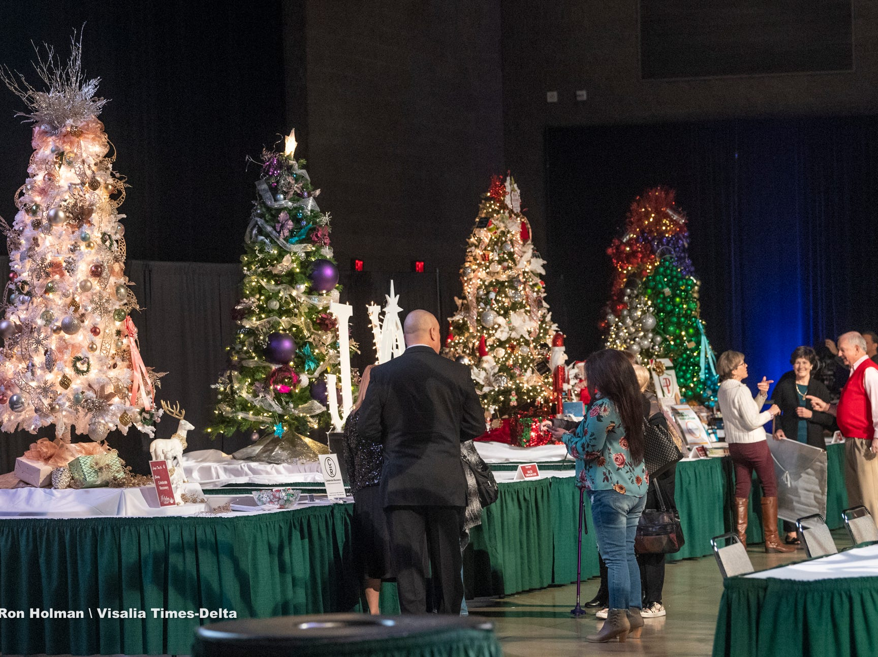 "A public preview to Visalia's 38th Annual Christmas Tree Auction on Friday, December 7, 2018. This year's theme is ""A Holiday Affair."""