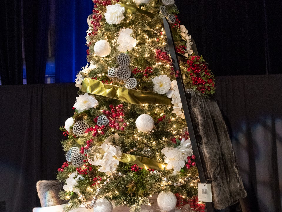 "Tree #10- Young Life Tulare County. Visalia's 38th Annual Christmas Tree Auction on Friday, December 7, 2018. This year's theme was ""A Holiday Affair."" The live auctions alone generated nearly $60,000 in bids."