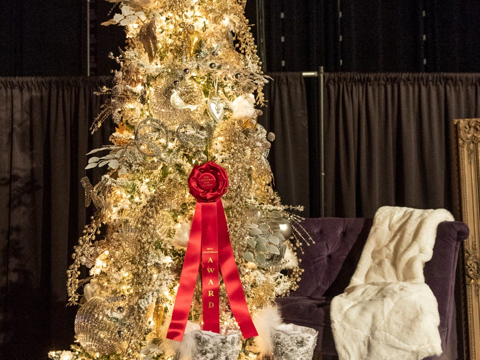 "Tree #6- Genesis House. Visalia's 38th Annual Christmas Tree Auction on Friday, December 7, 2018. This year's theme was ""A Holiday Affair."" The live auctions alone generated nearly $60,000 in bids."