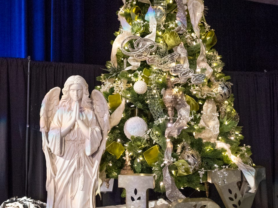 "Tree #9- Love in the Name of Christ. Visalia's 38th Annual Christmas Tree Auction on Friday, December 7, 2018. This year's theme was ""A Holiday Affair."" The live auctions alone generated nearly $60,000 in bids."