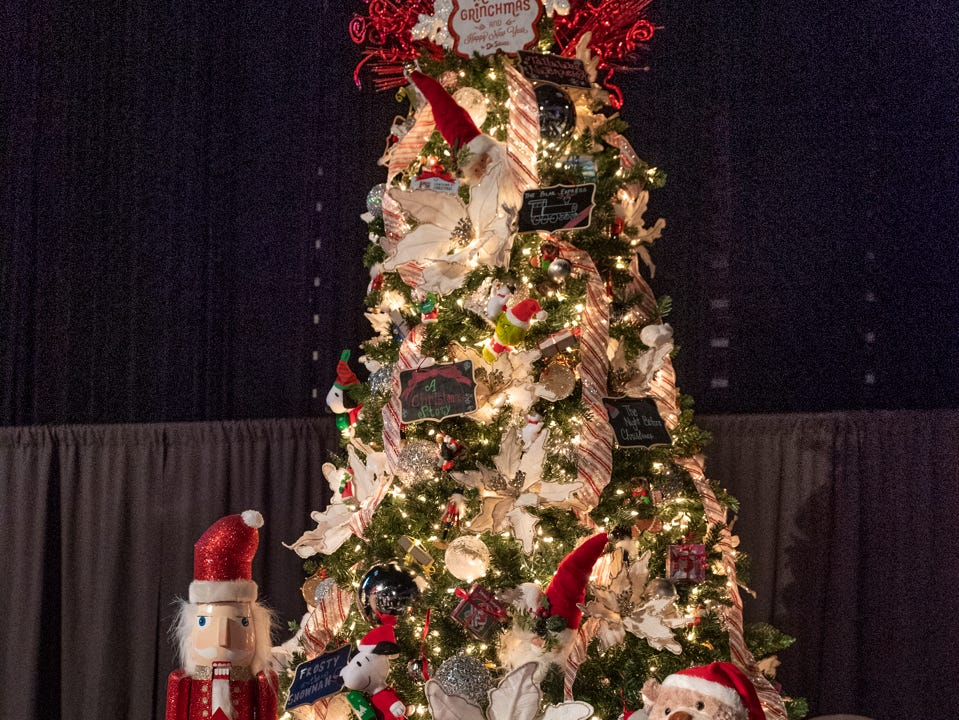 "Tree #2- Read For Life. Visalia's 38th Annual Christmas Tree Auction on Friday, December 7, 2018. This year's theme was ""A Holiday Affair."" The live auctions alone generated nearly $60,000 in bids."