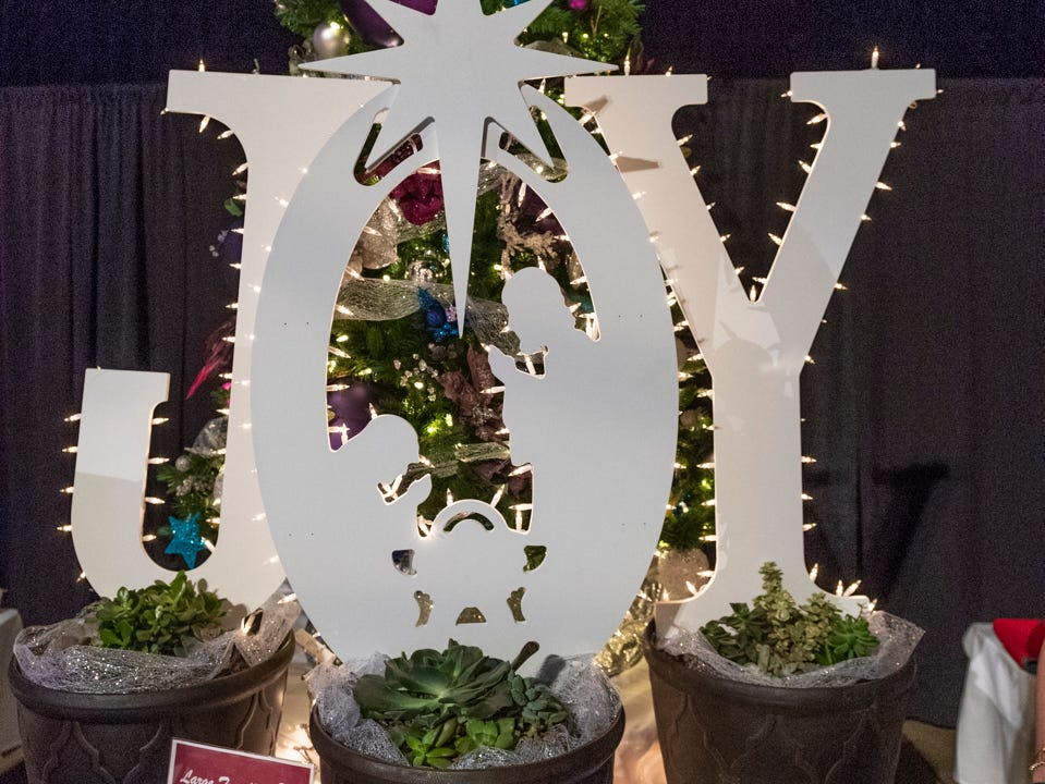 """Tree #3- My Father's House. Visalia's 38th Annual Christmas Tree Auction on Friday, December 7, 2018. This year's theme was """"A Holiday Affair."""" The live auctions alone generated nearly $60,000 in bids."""