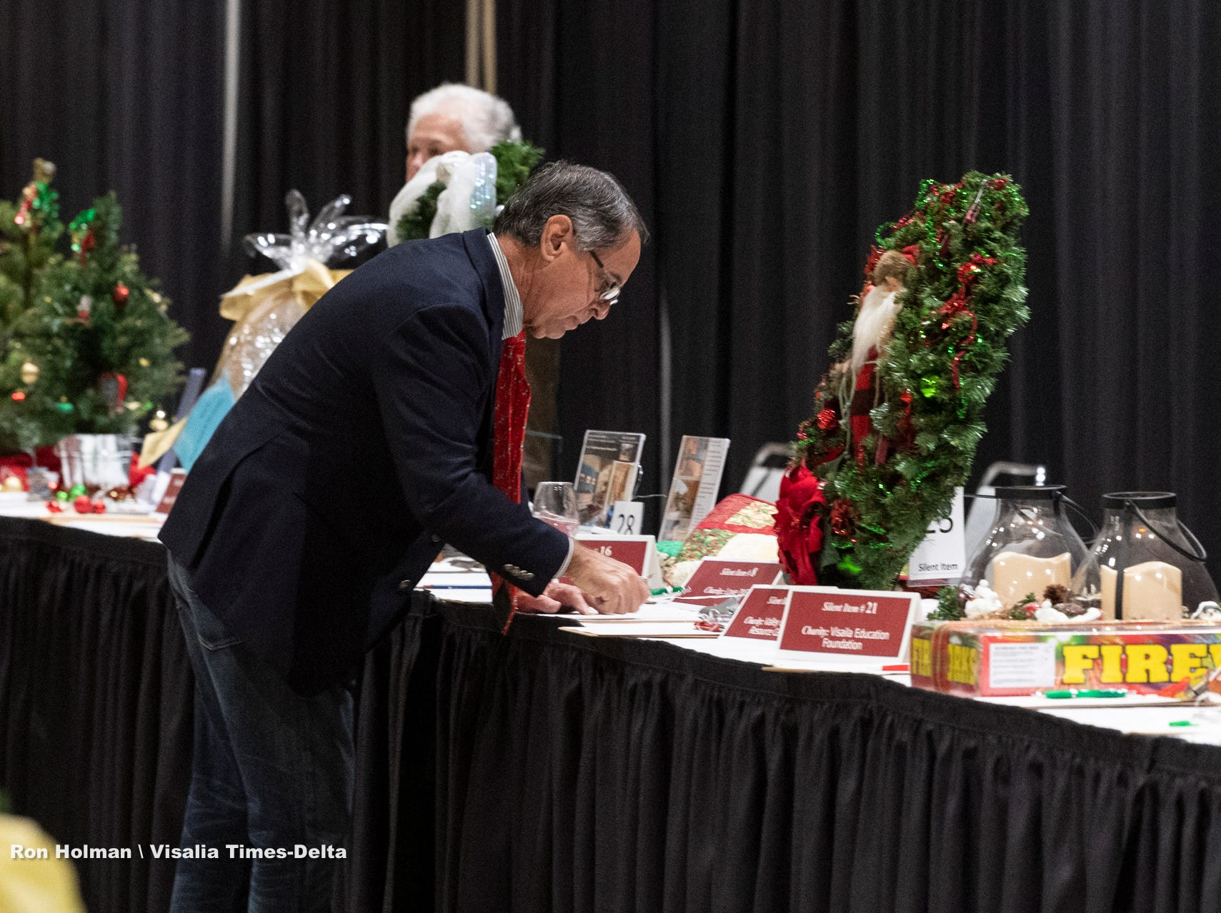"""Visalia's 38th Annual Christmas Tree Auction on Friday, December 7, 2018. This year's theme was """"A Holiday Affair."""" The live auctions alone generated nearly $60,000 in bids."""