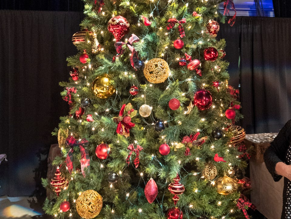 """Tree #12- The Ruth Wood Opens Arms House. Visalia's 38th Annual Christmas Tree Auction on Friday, December 7, 2018. This year's theme was """"A Holiday Affair."""" The live auctions alone generated nearly $60,000 in bids."""
