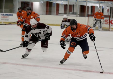 Scarsdale forward Jack Brosgol (left) finished the week with five goals and three assists in two games.