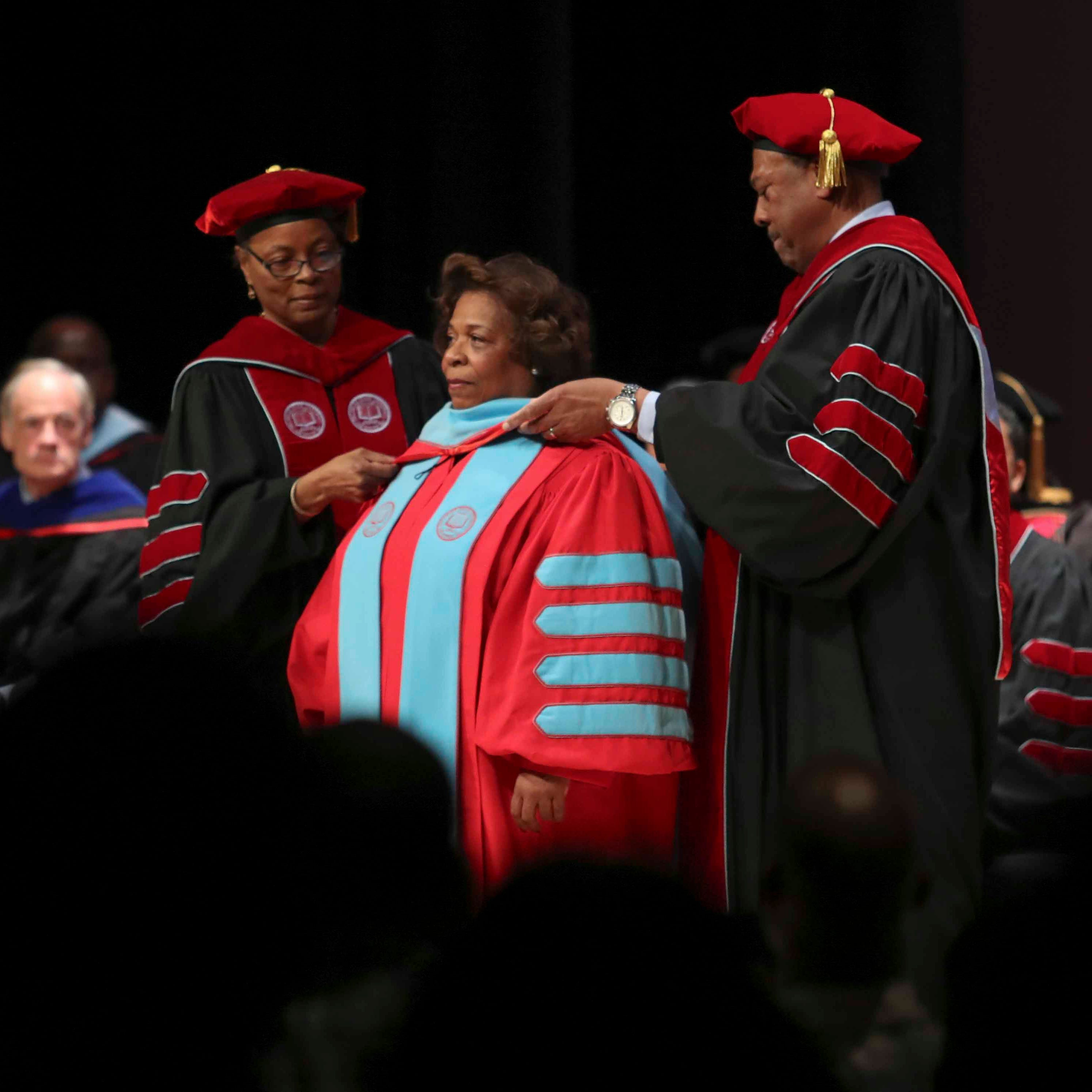 Delaware State formally welcomes first female president, Wilma Mishoe