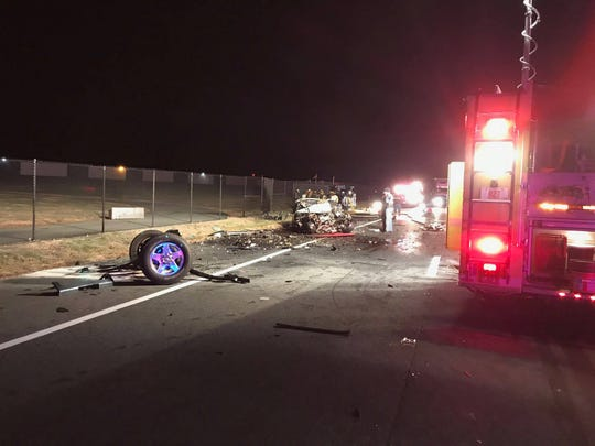 New Castle County Paramedics said a crash early Saturday morning on Summit Bridge Road left two people trapped inside their vehicles.