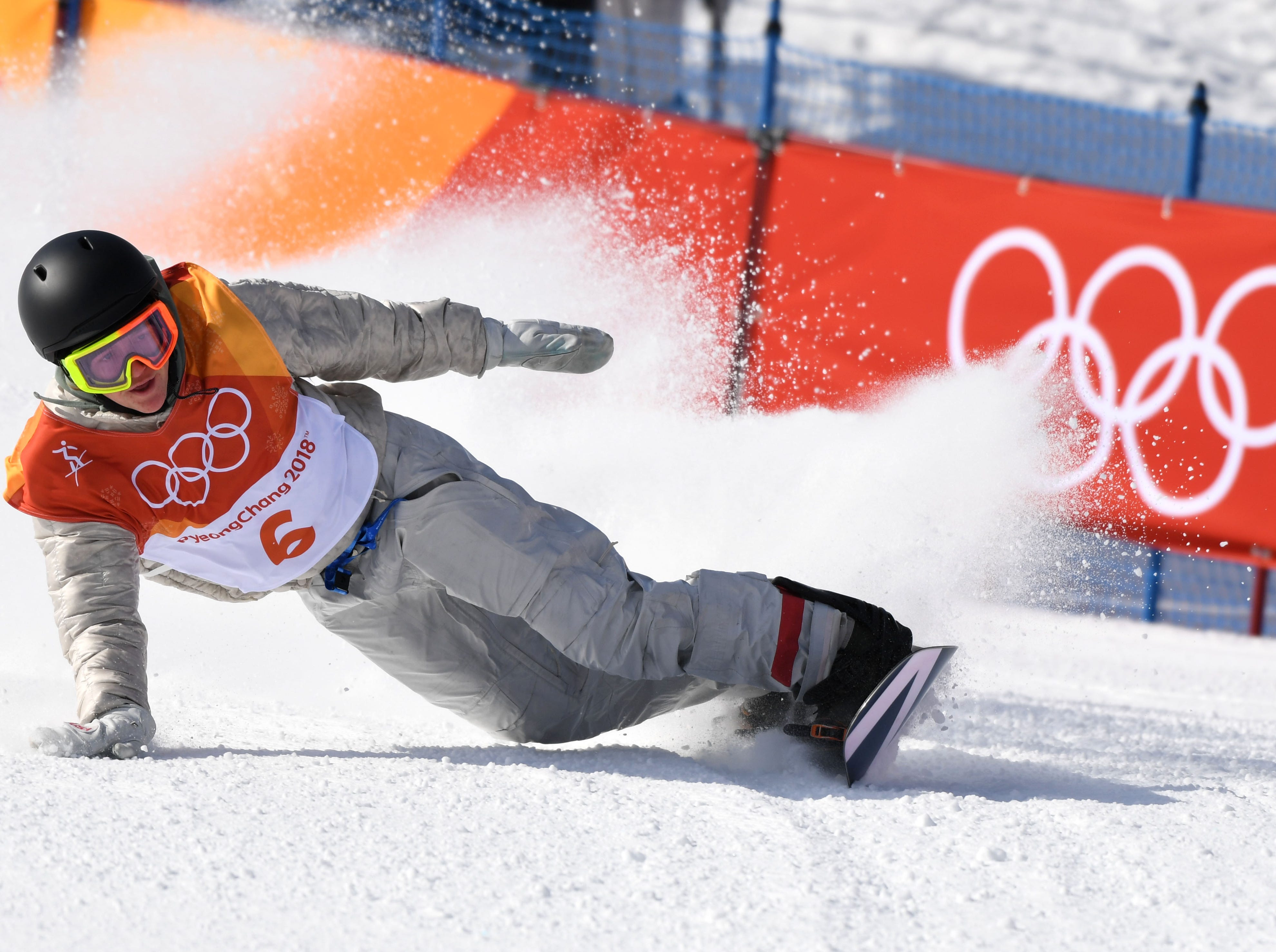 Feb. 11: Red Gerard (USA) competes in the snowboard slopestyle during the Pyeongchang Winter Games. He would win the gold medal.