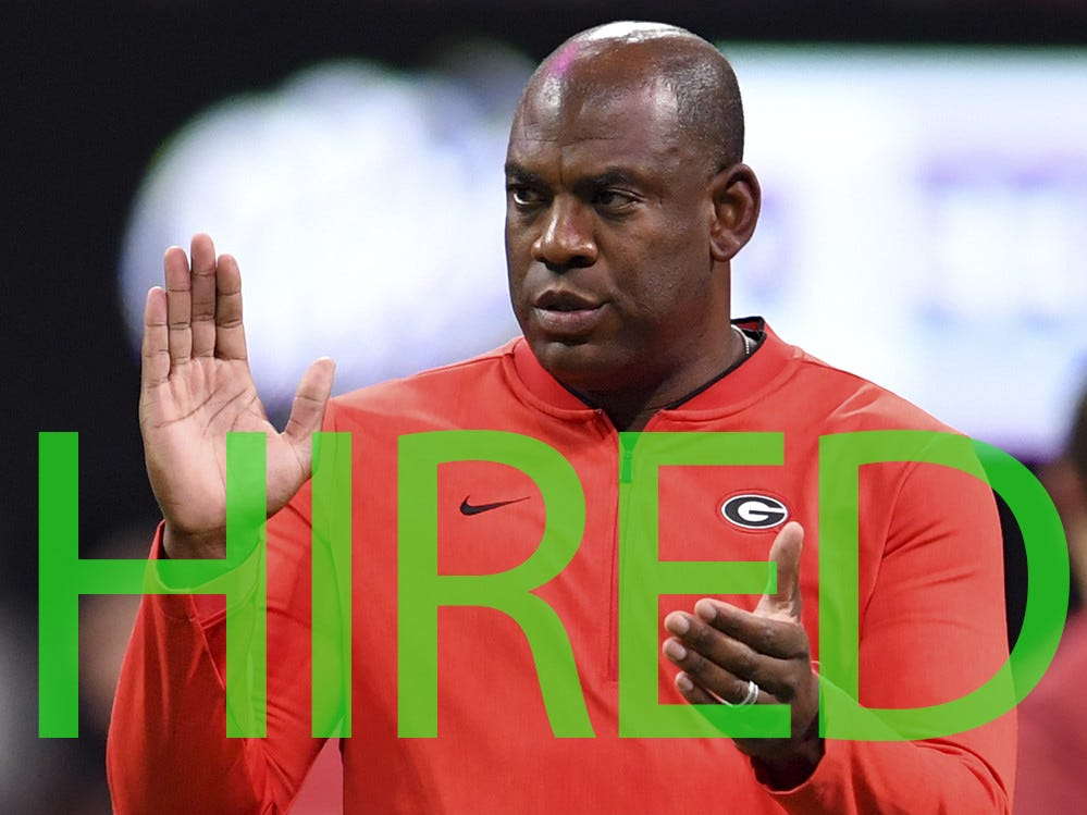 Mel Tucker has been hired by Colorado. He has served as Georgia's defensive coordinator the past three seasons.