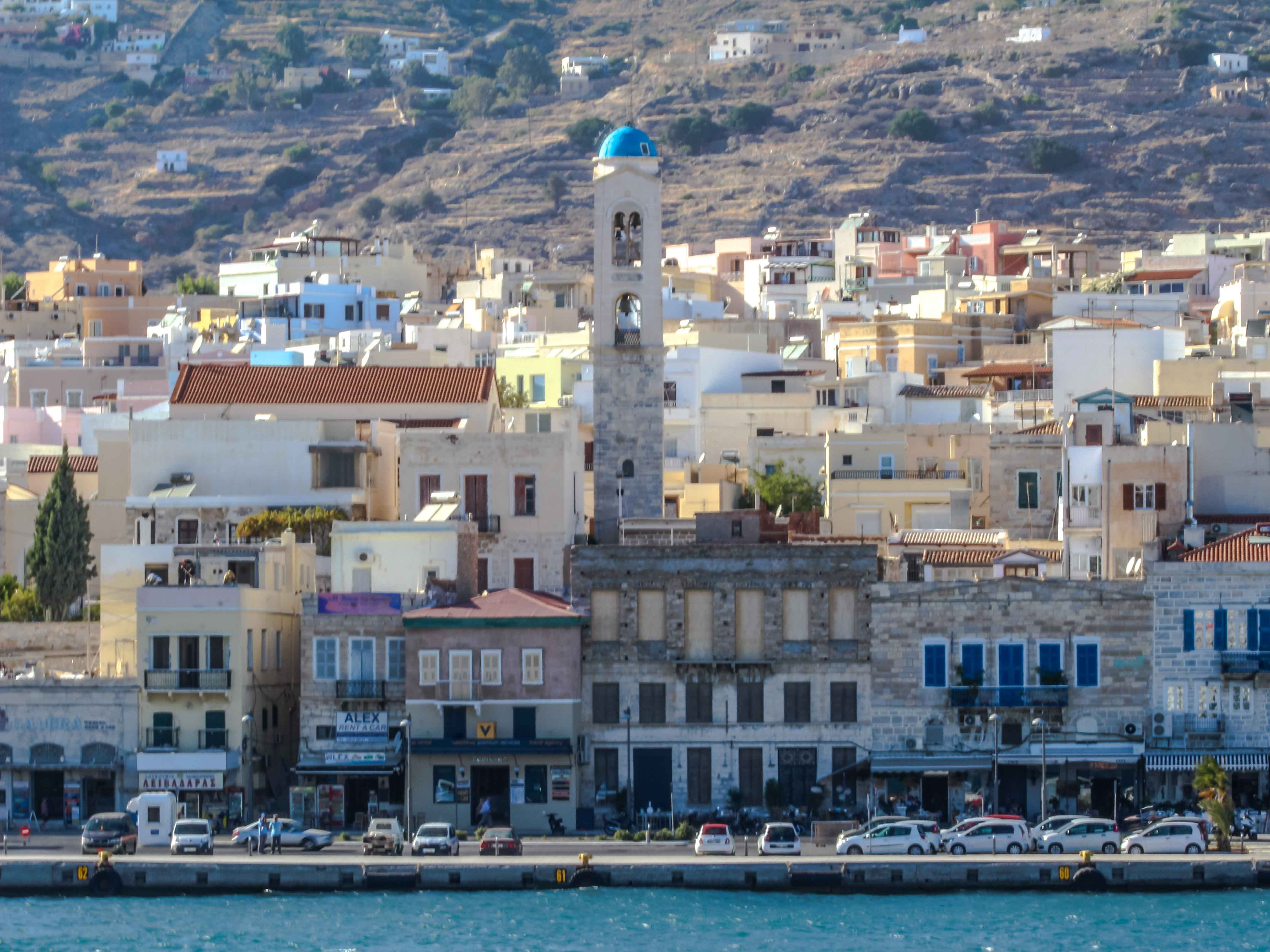Syros is one of the smallest islands in the Cyclades. When you enter from the sea, you'll notice the neoclassical architecture of the bustling port town of Ermoupolis. If you arrive in the evening, the city sparkles with bright lights.