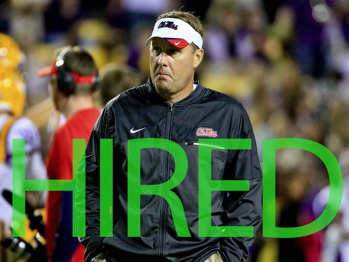 Hugh Freeze was hired by Liberty. He went 39-25 in five seasons at Ole Miss before he resigned in 2017 as the football program was being investigated by the NCAA and his own personal conduct had come under scrutiny.