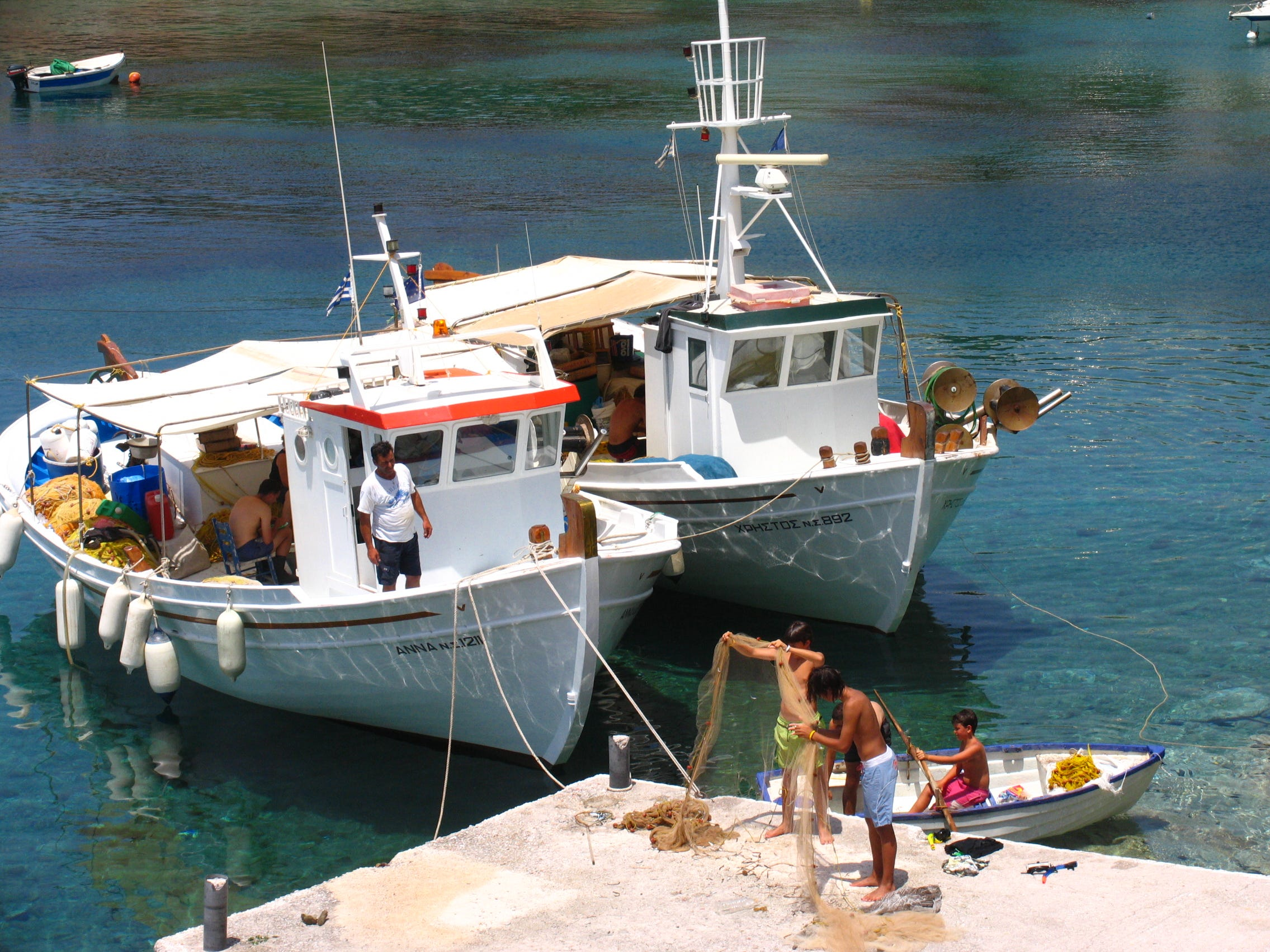 As on most islands in the Cyclades, fishing is a way of life. Small boats haul in the catch of the day and guide visitors on fishing trips.