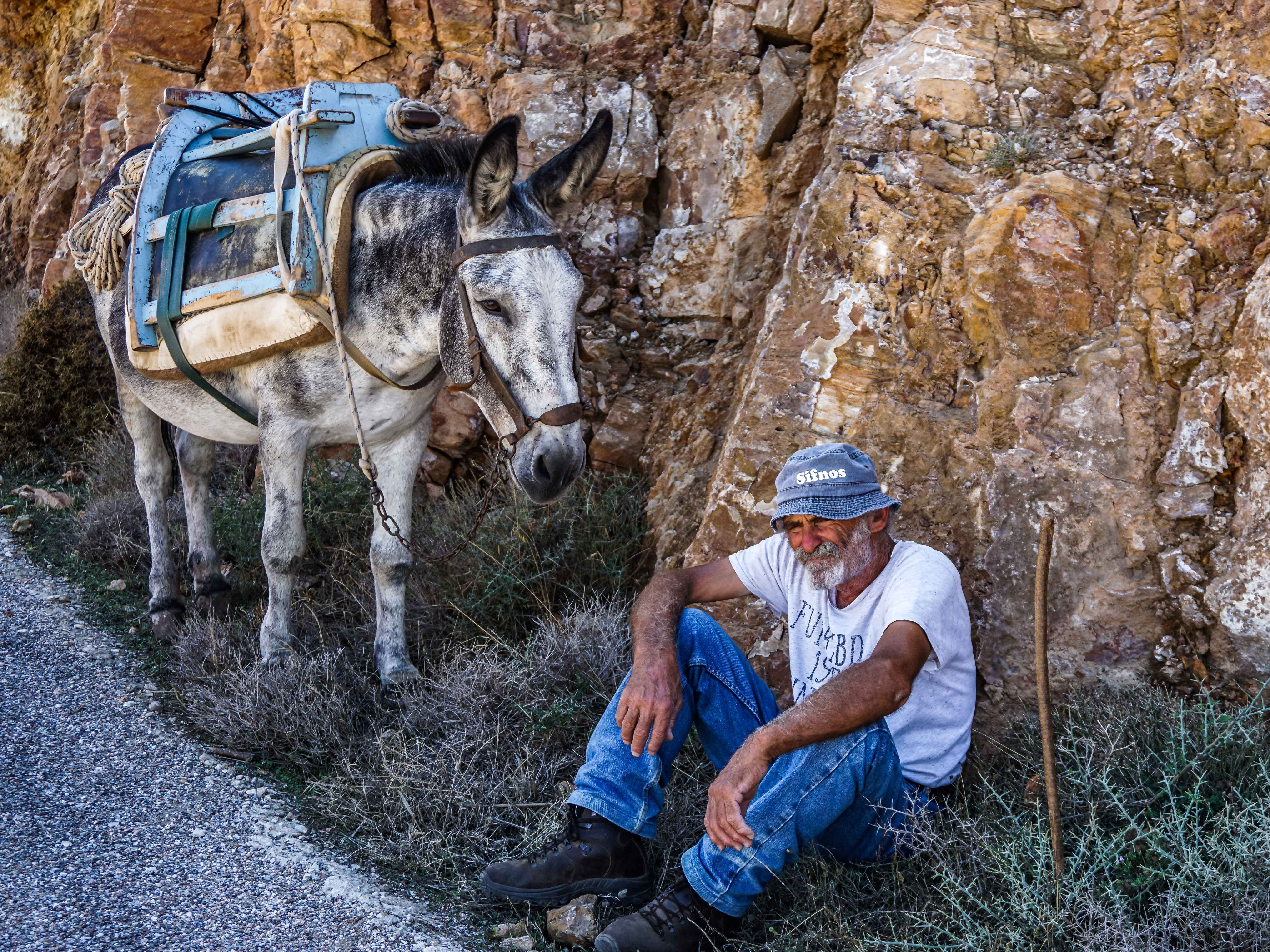 Many times the friendly locals of Sifnos will ask you to take their picture.