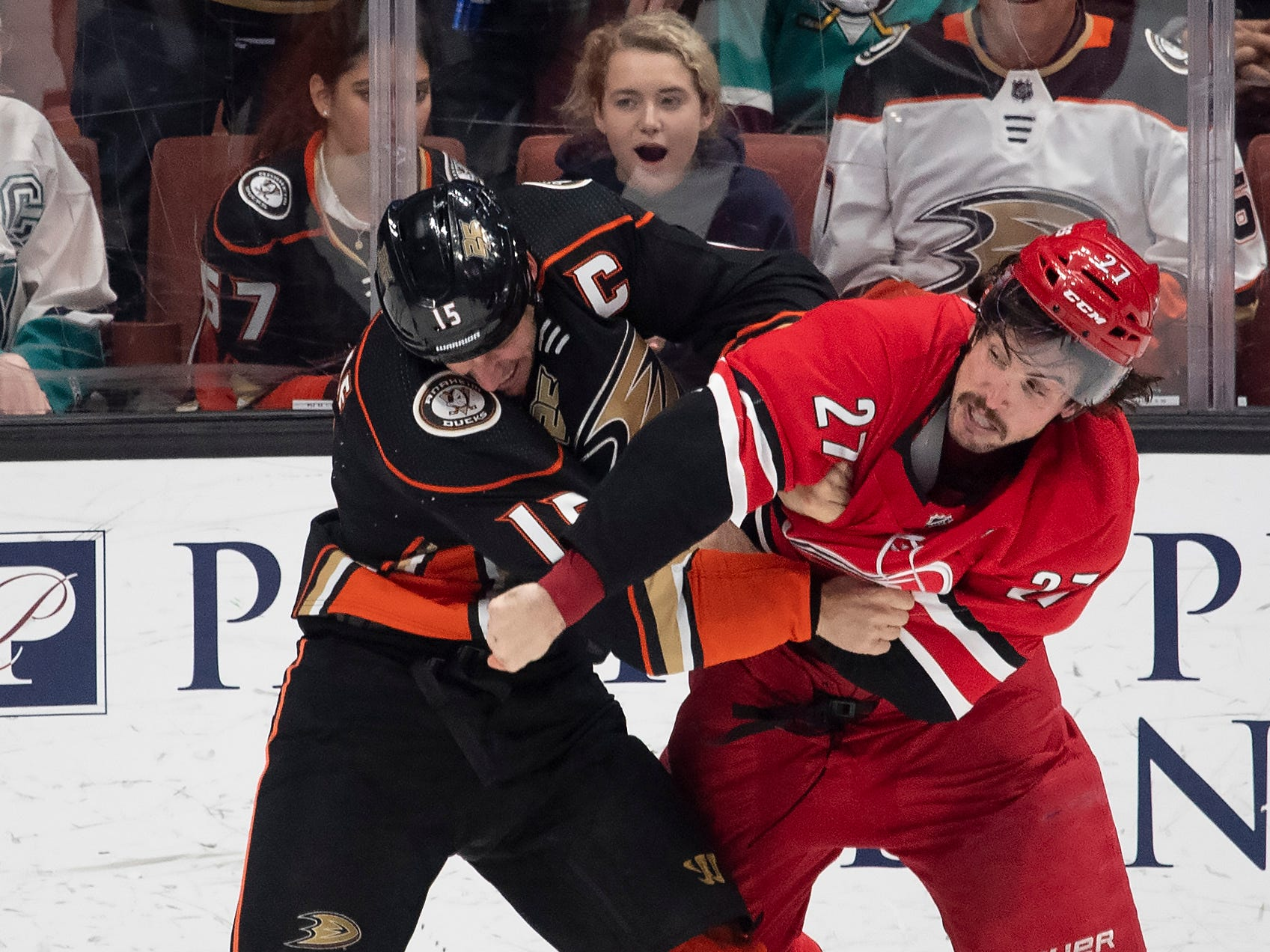 Dec. 7: Anaheim Ducks' Ryan Getzlaf vs. Carolina Hurricanes' Justin Faulk.
