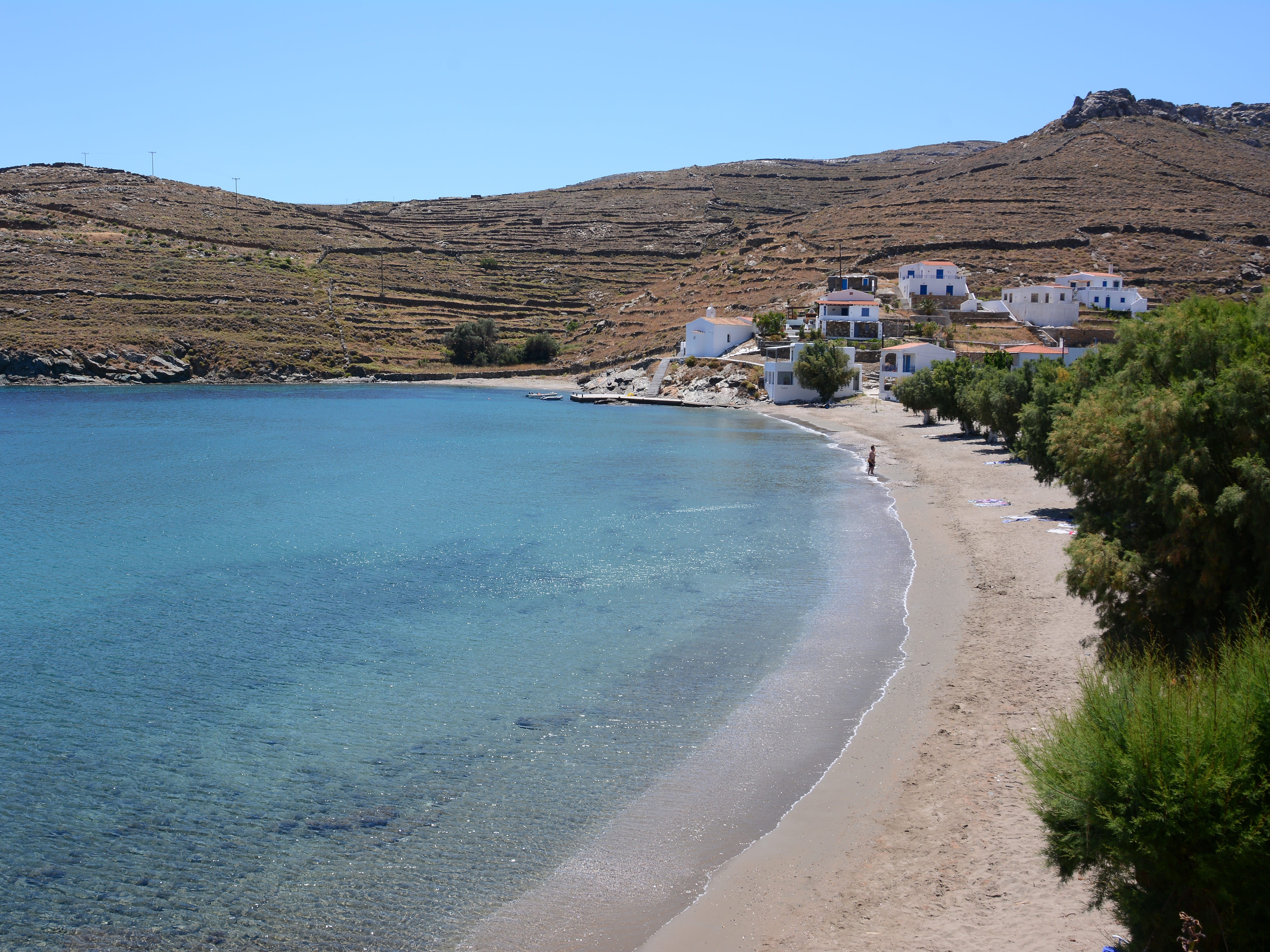 Lefkes Beach is one of the many unpretentious shorelines which make Kythnos a favorite among island-hoppers.