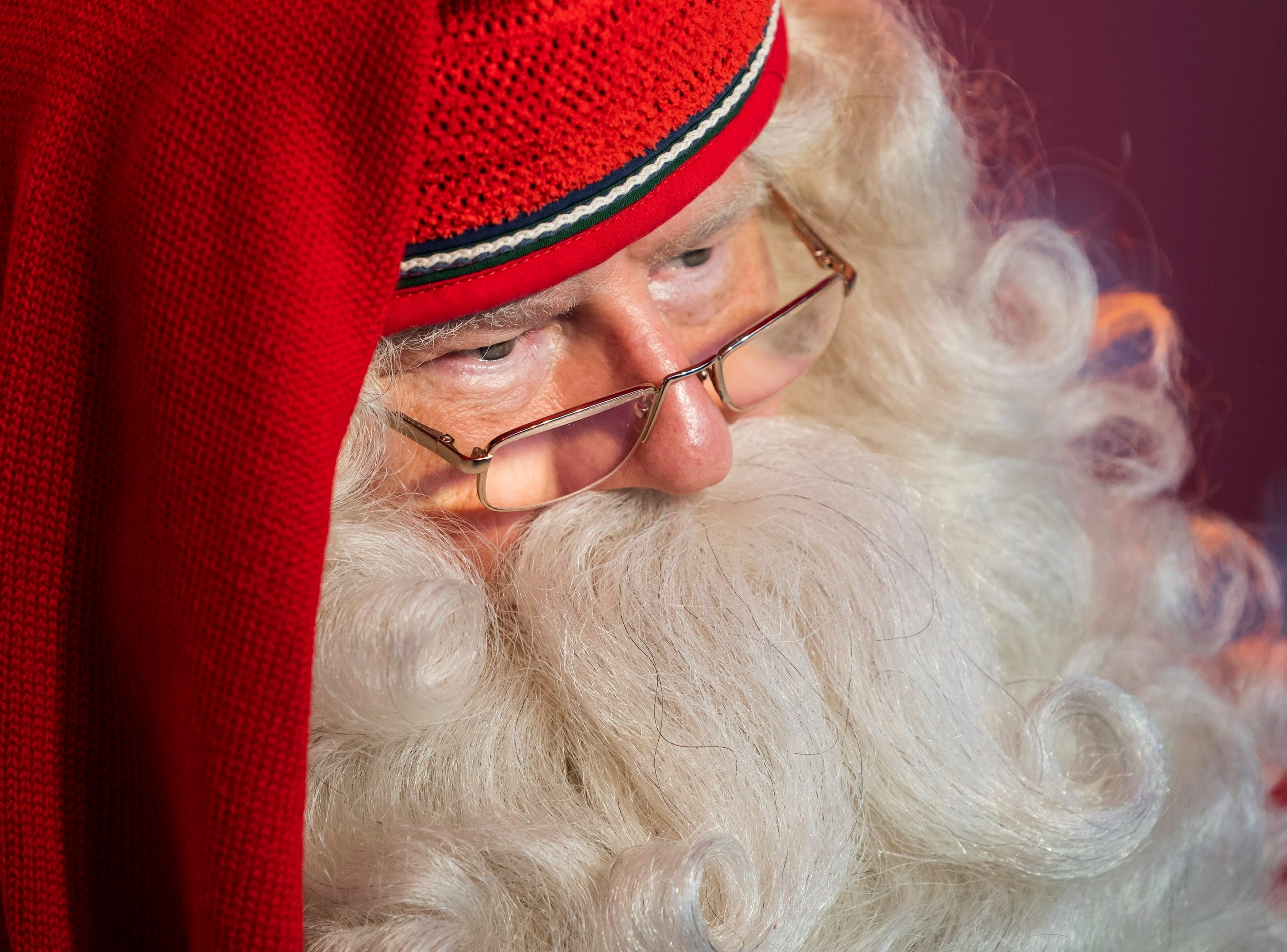 Joulupukki, the Santa Claus from Lappland of Finland is seen upon his arrival at the Santa Claus factory set up in the Millenaris Park, in Budapest, Hungary on Dec. 6, 2018. The Santa Claus factory is a charity campaign created to collect donations from the public.