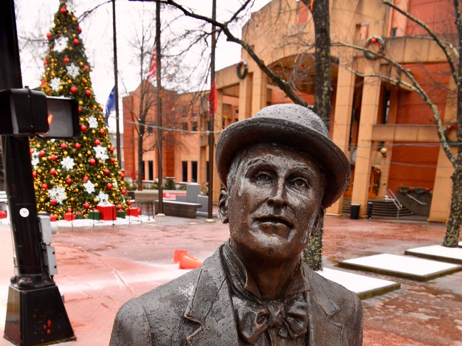 The William Whitner statue in front of the Anderson County Courthouse on Sunday, Dec. 9, 2018.