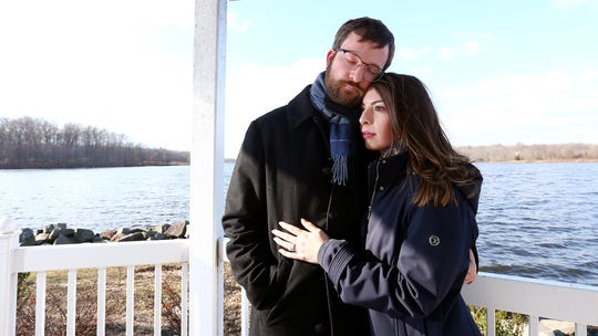 Deanna and Jon Harkel of Princeton at the Boathouse at Mercer Lake. The couple decided to turn to in vitro fertilization after going through four miscarriages, their insurance company refusing to pay for their treatment. December 8, 2018, West Windsor, NJ