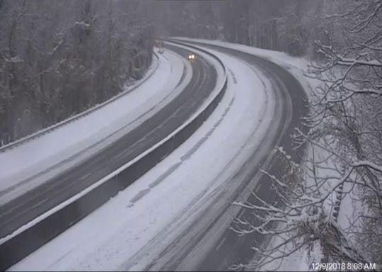 Interstate 26 east of Saluda had some traffic moving on it Sunday morning.