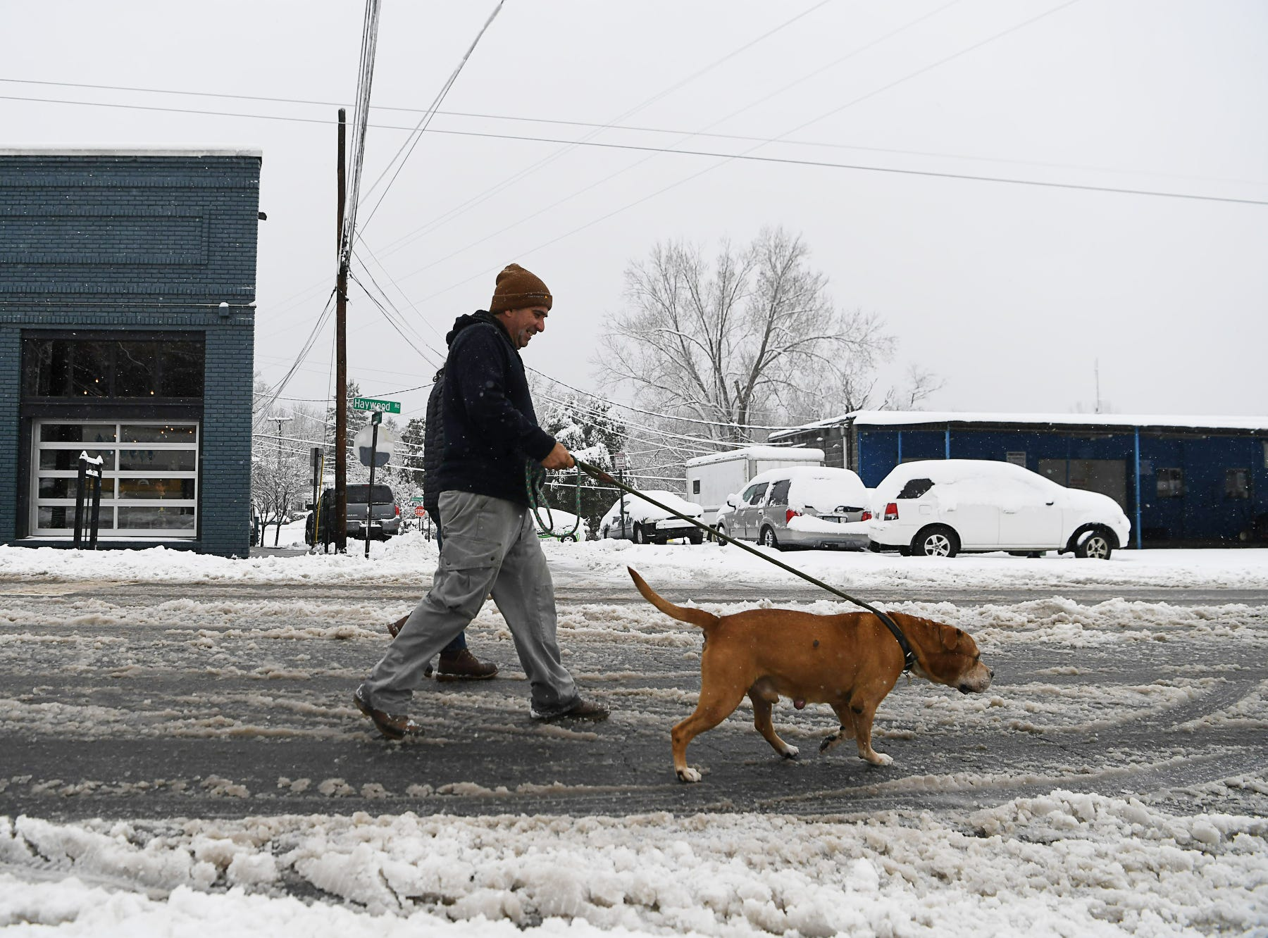 Snowy scenes in West Asheville Dec. 9, 2018.