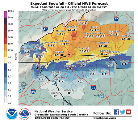 Updated Snow Map