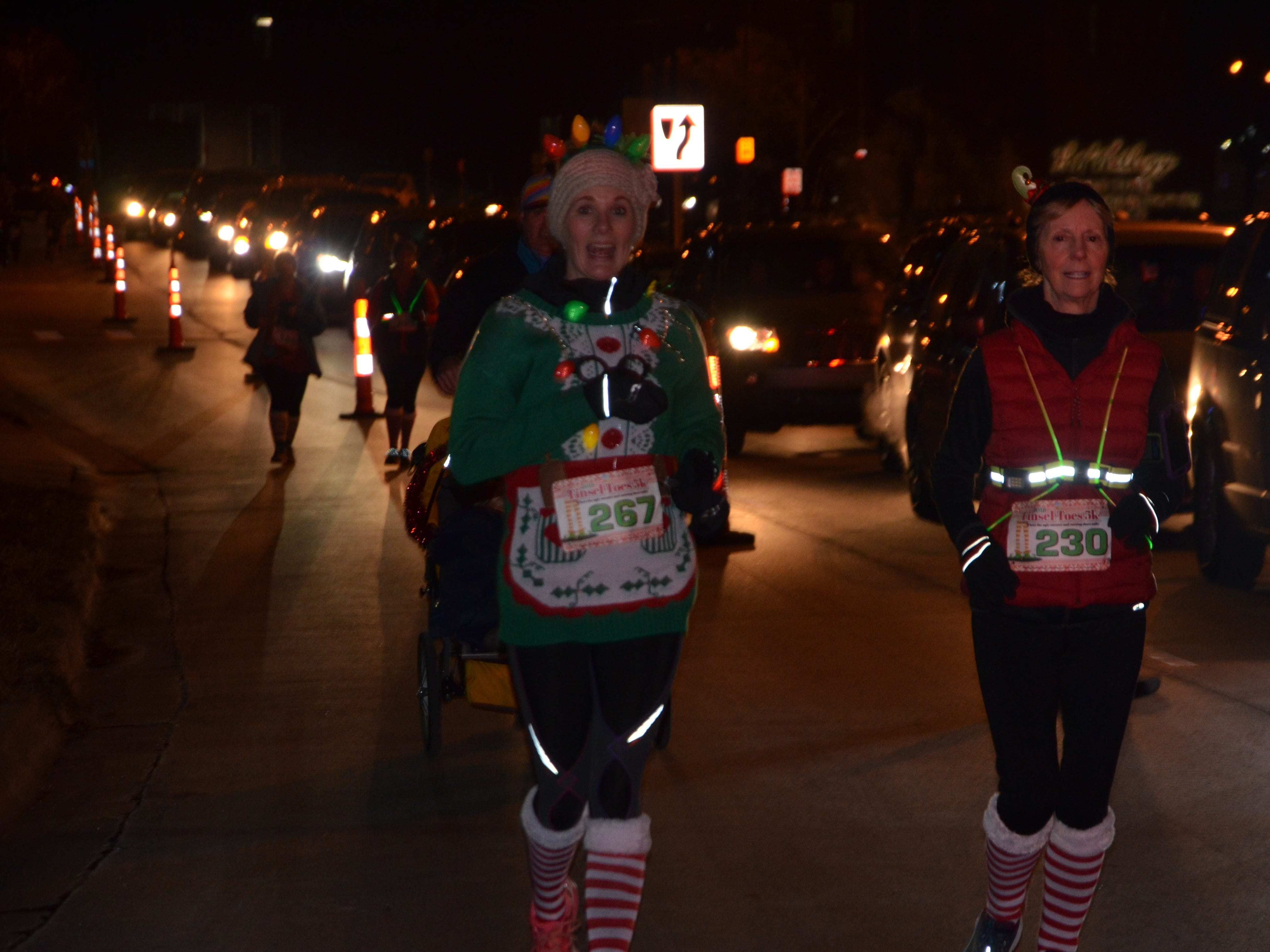 The Tinsel Toes 5K, presented by Cereal City Athletics, in downtown Battle Creek on Saturday, Dec. 8, 2018.