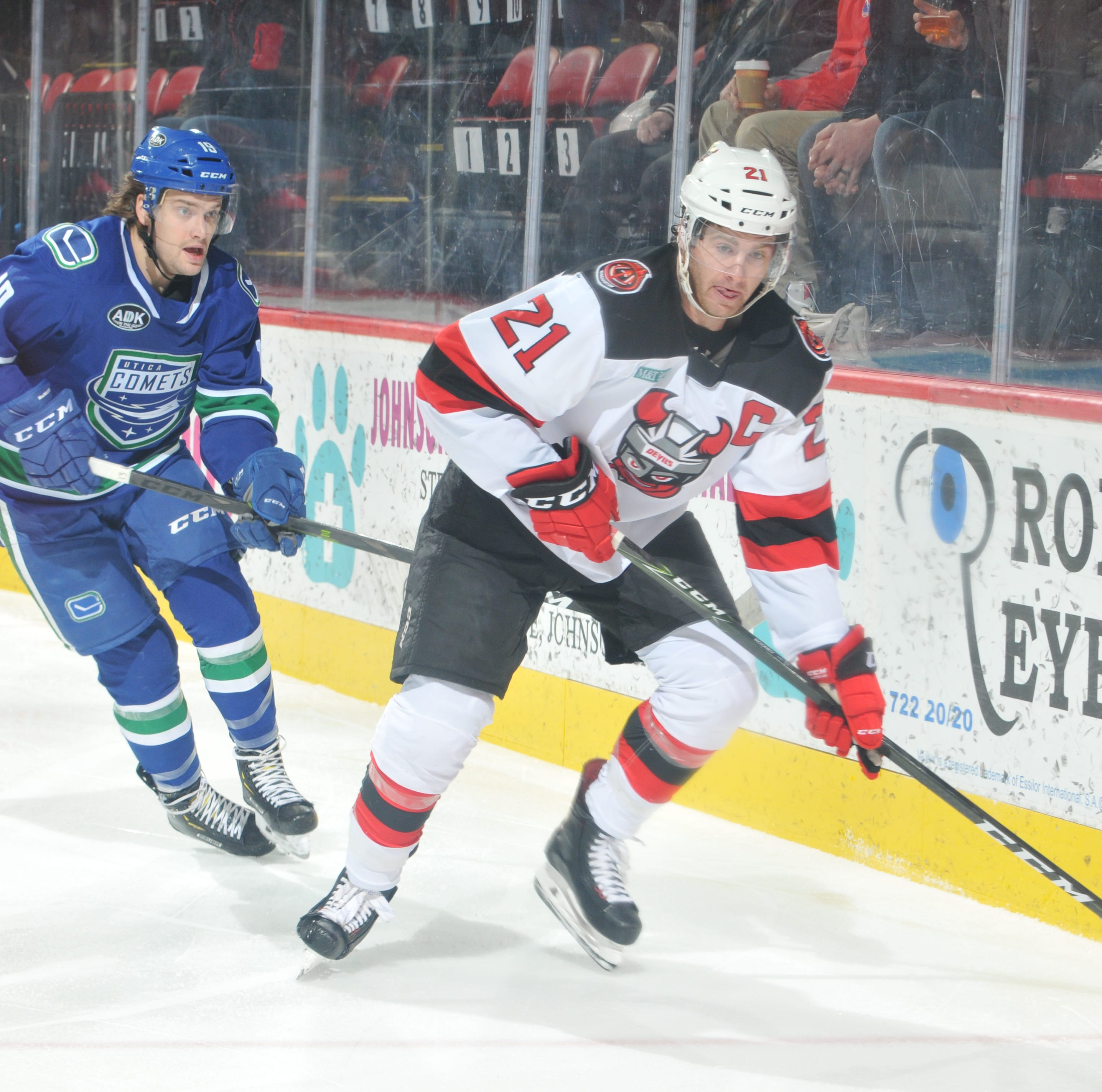 B-Devils fall at home to Utica