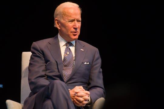 Former Vice President Joe Biden at the Flynn in Burlington on Dec. 9, 2018