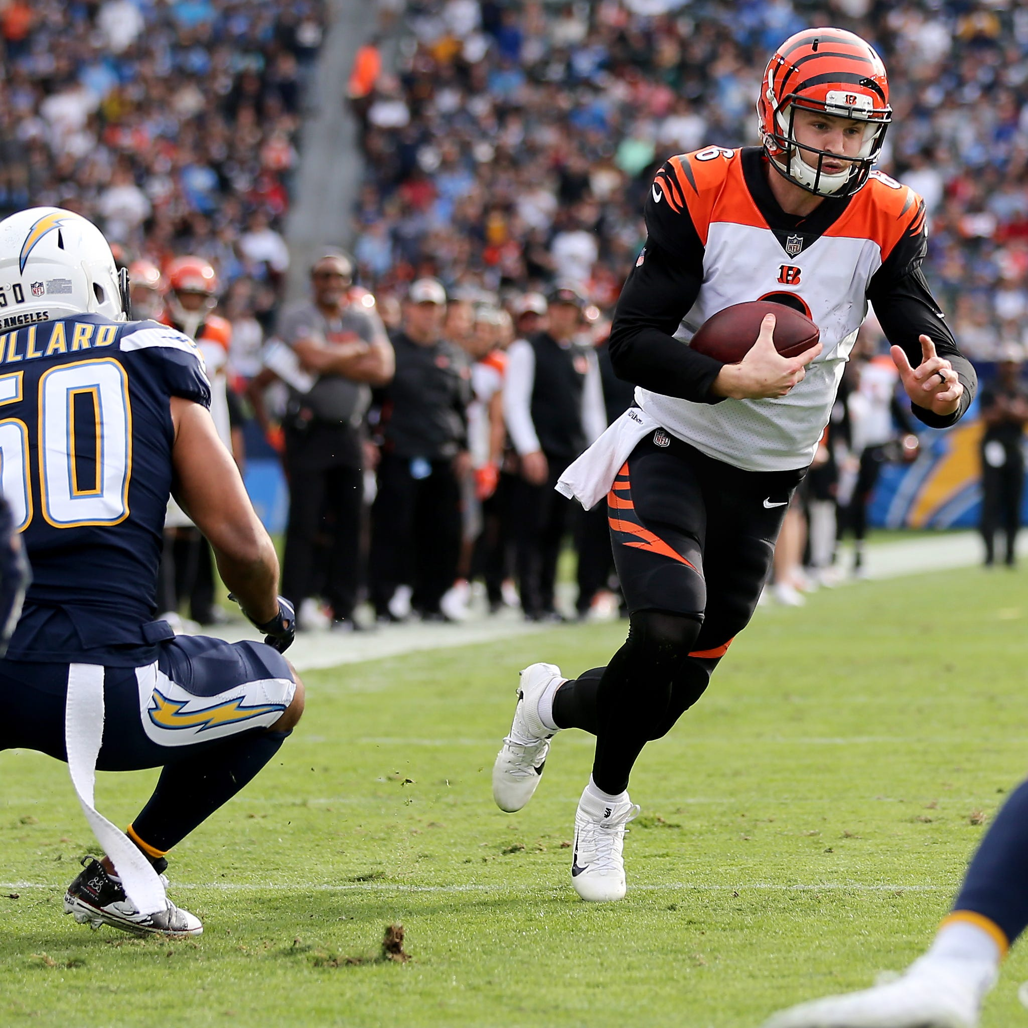 Rule change negated Jeff Driskel TD in Cincinnati Bengals loss to Los Angeles Chargers