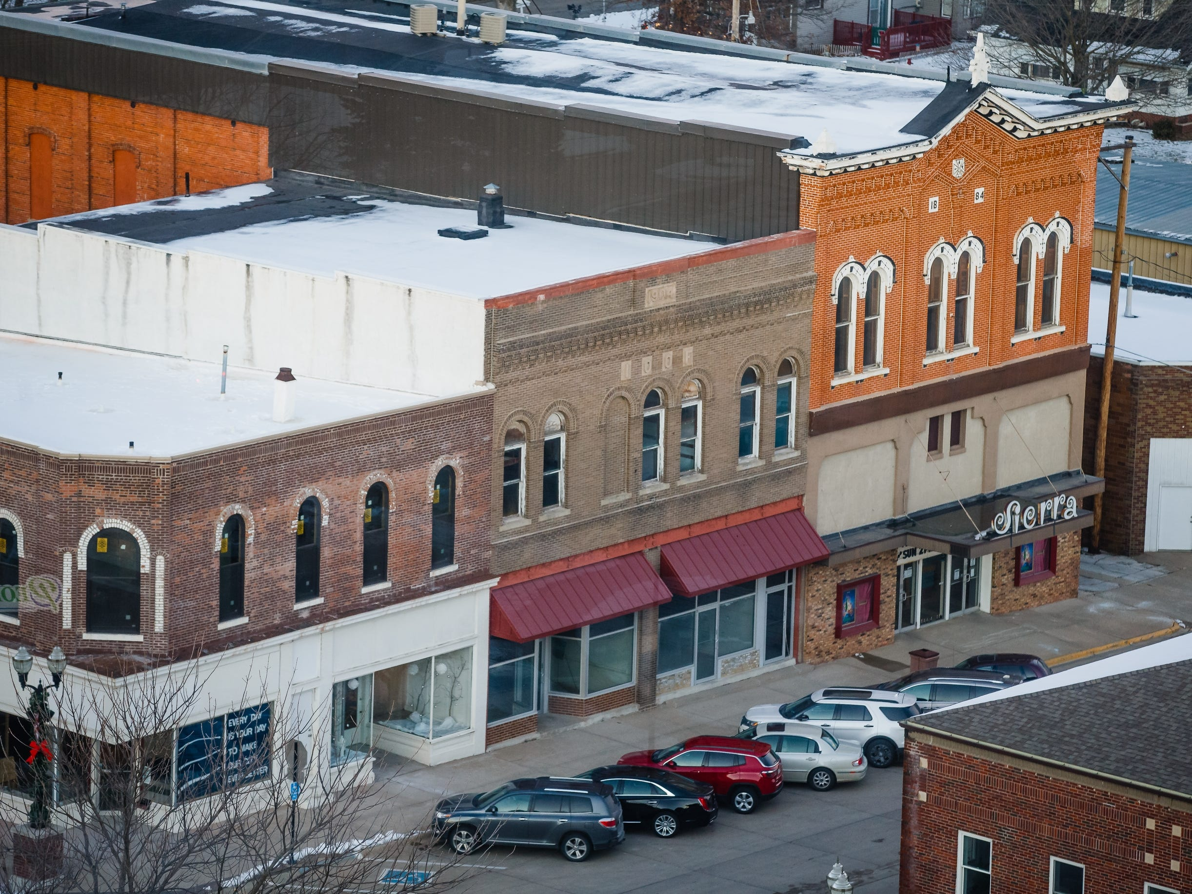 The building in the center, pictured on Saturday, Dec. 8, 2018, in Jefferson, will eventually become Pillar Technology's Forge.