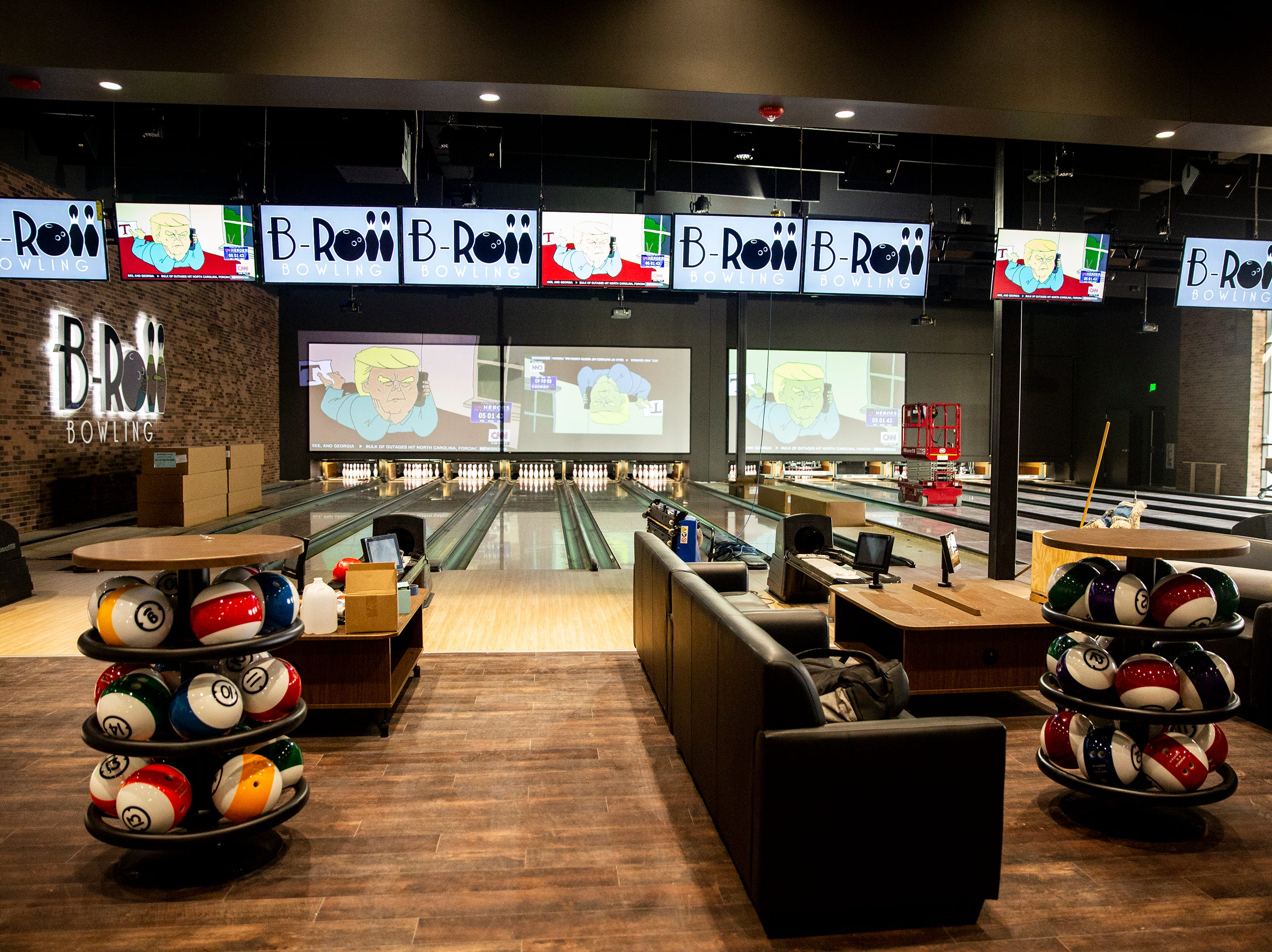 Inside B & B Ankeny 12 & B-Roll Bowling, on Sunday, Dec. 9, 2018, in Ankeny. This theater is one of the few to offer an arcade, bowling, full bar and theater in one place.