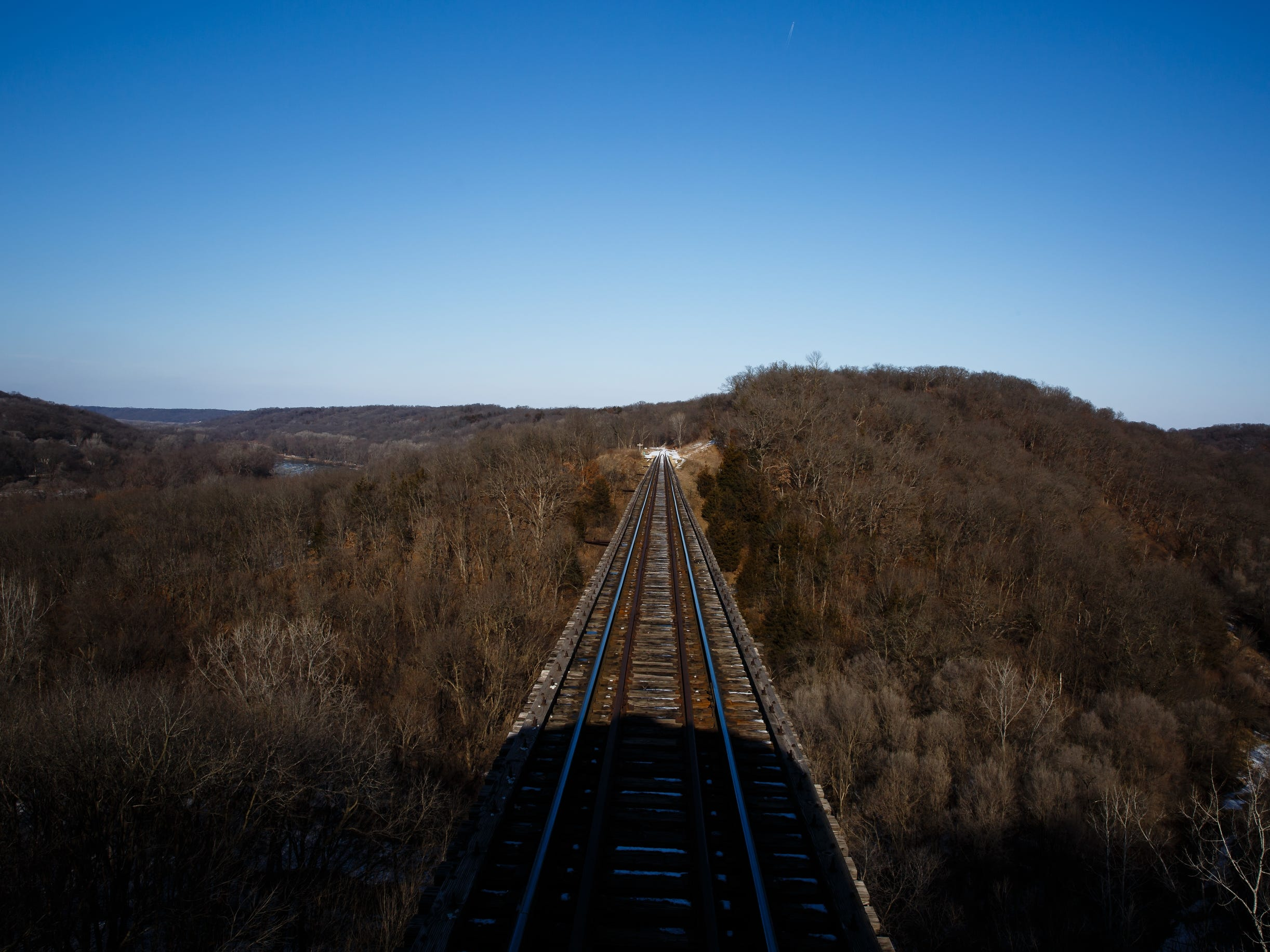 Views of Boone Valley are seen during the Santa Express train at the Boone and Scenic Valley Railroads on Saturday, Dec. 8, 2018, in Boone.