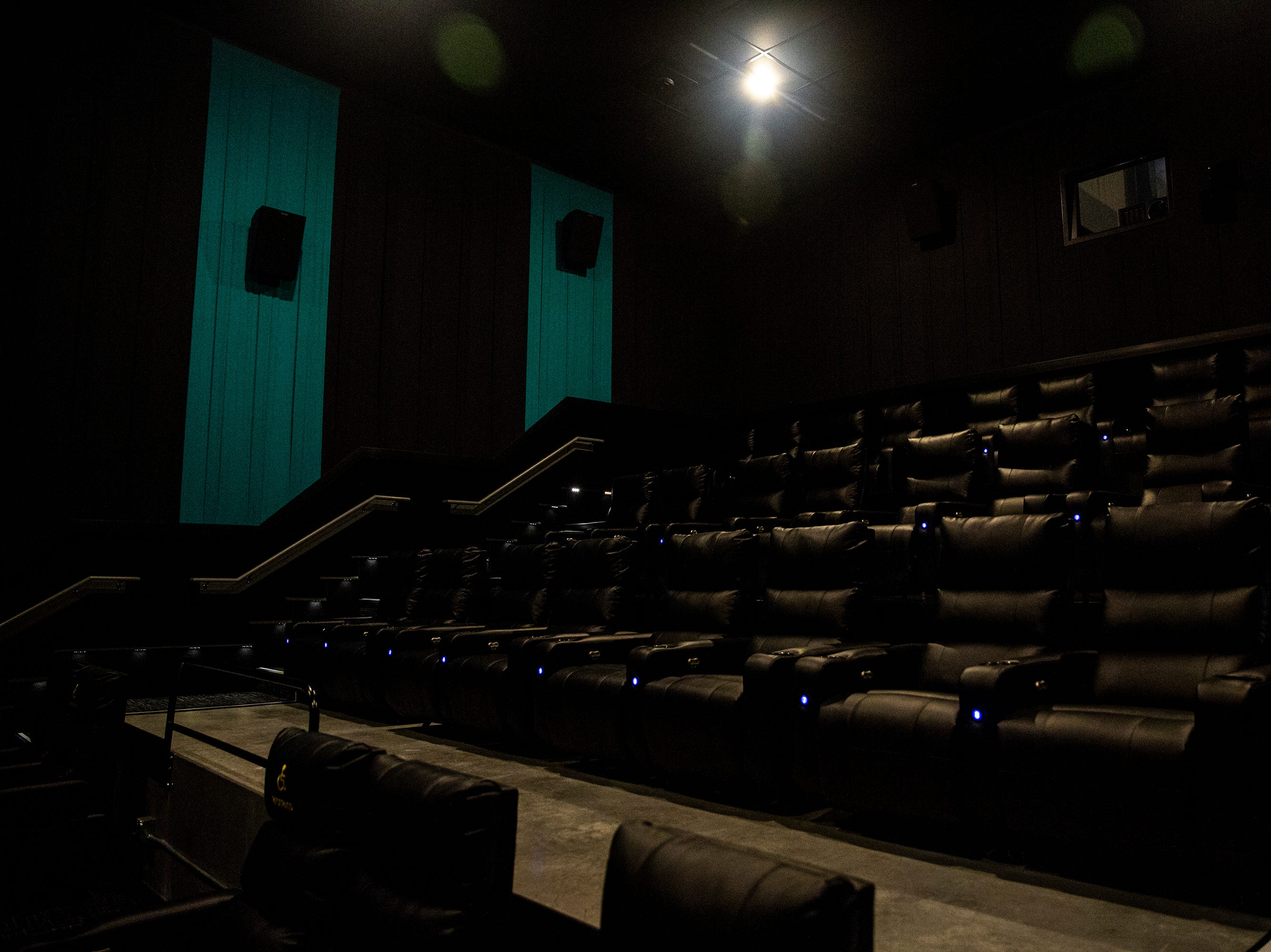 All of the theater seats at B & B Ankeny 12 & B-Roll Bowling are reclinable and heated, on Sunday, Dec. 9, 2018, in Ankeny.