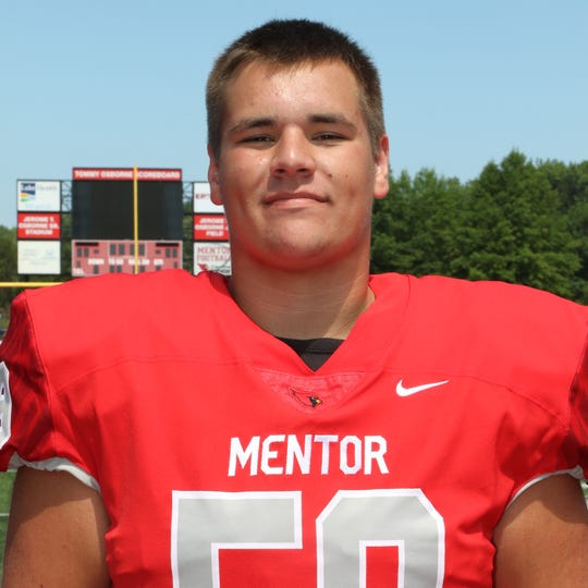 Mentor (Ohio) offensive lineman Nick Samac