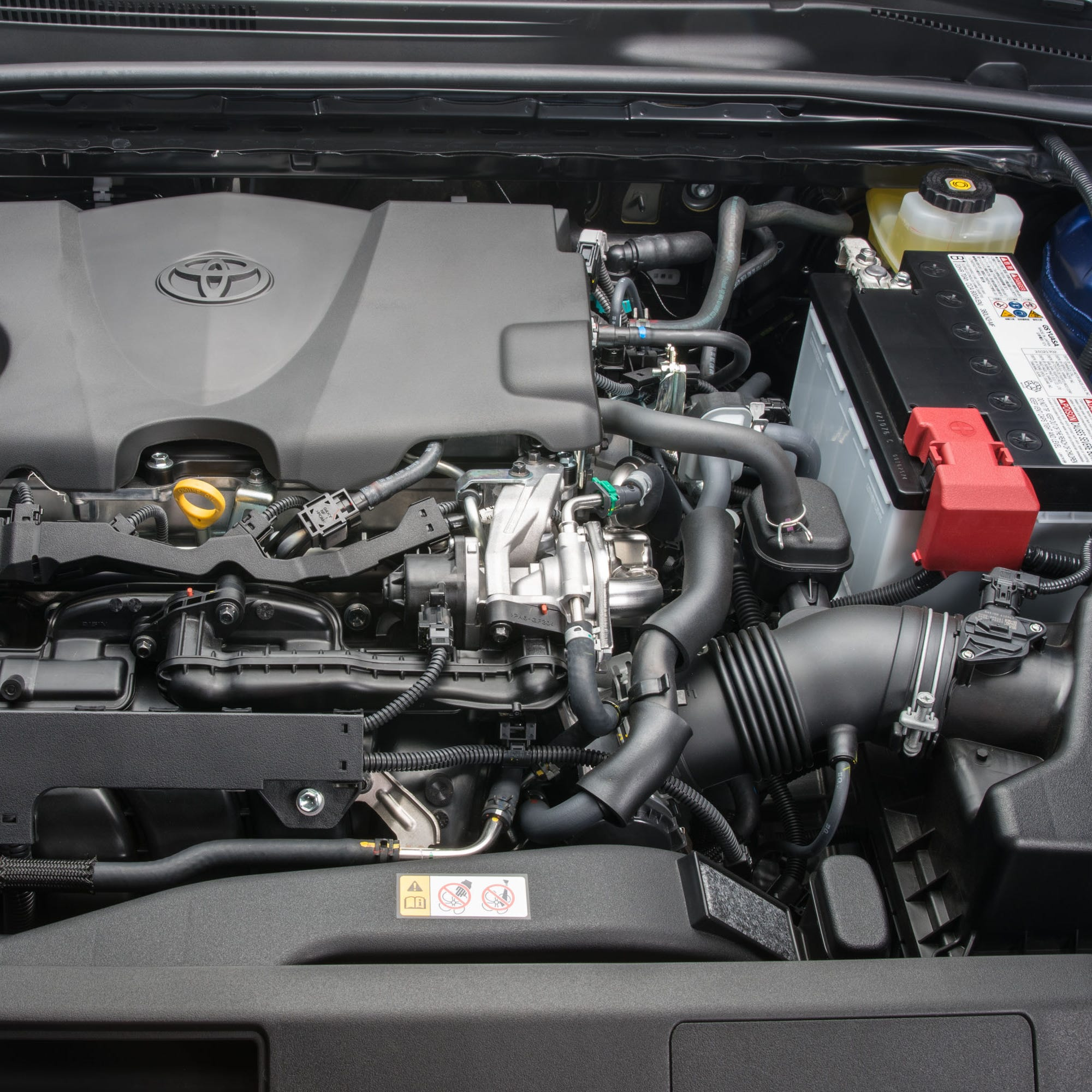 Toyota was the brand least likely to need check engine repairs over the past year according to CarMD. In the picture—2018 Toyota Camry LE