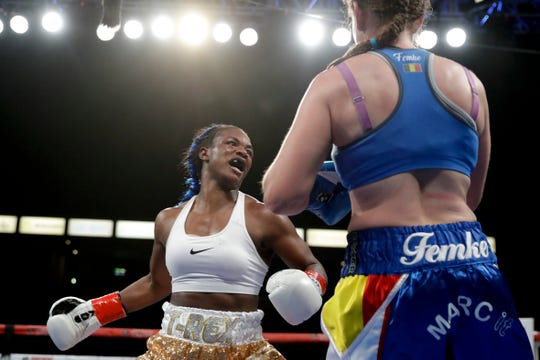The coronavirus is causing the postponement of Claressa Shields' scheduled May 9 fight in her hometown of Flint, against junior middleweight titleist Marie-Eve Dicaire.